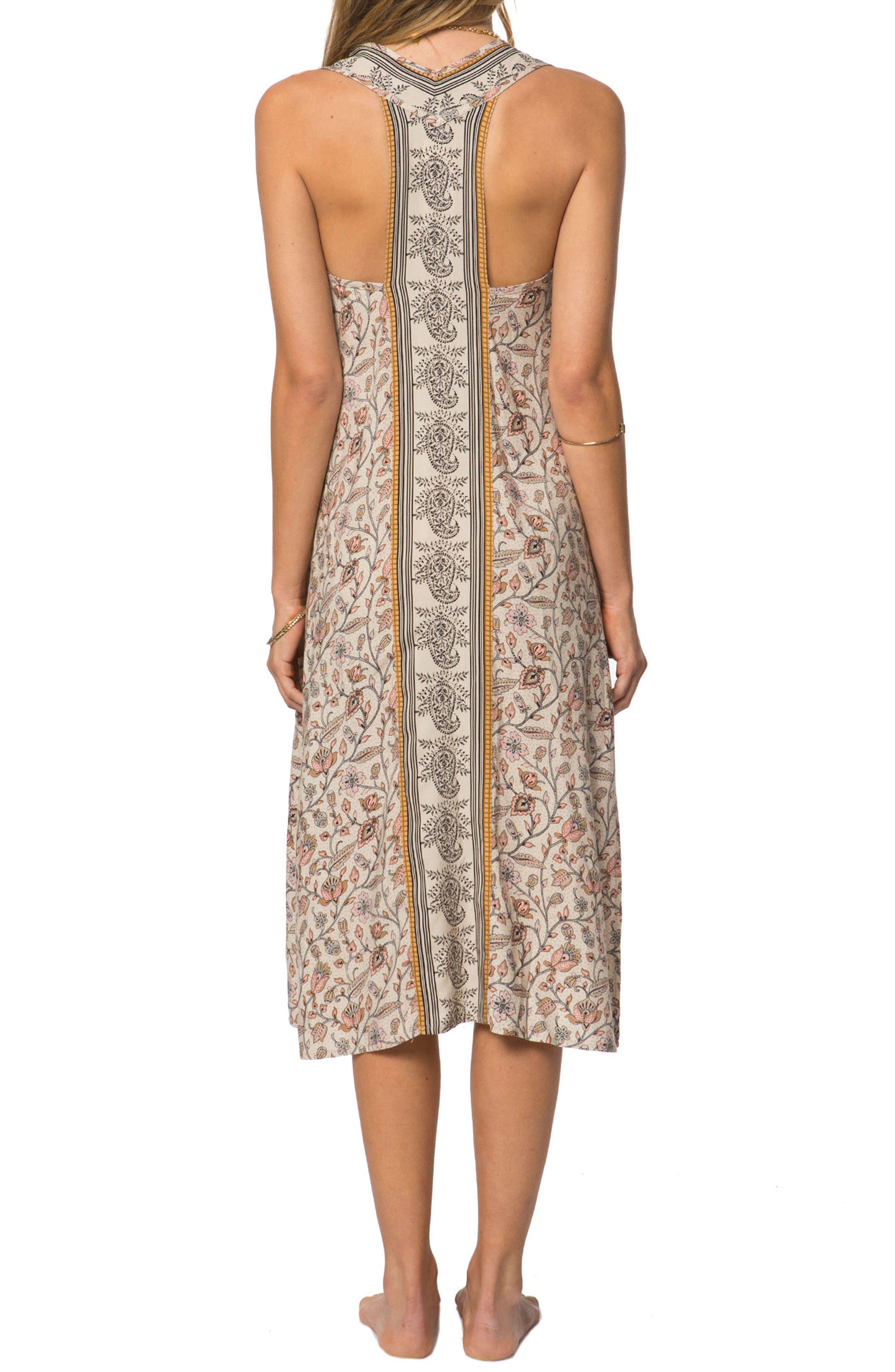 Phoenix Print Midi Dress,                             Alternate thumbnail 2, color,                             022
