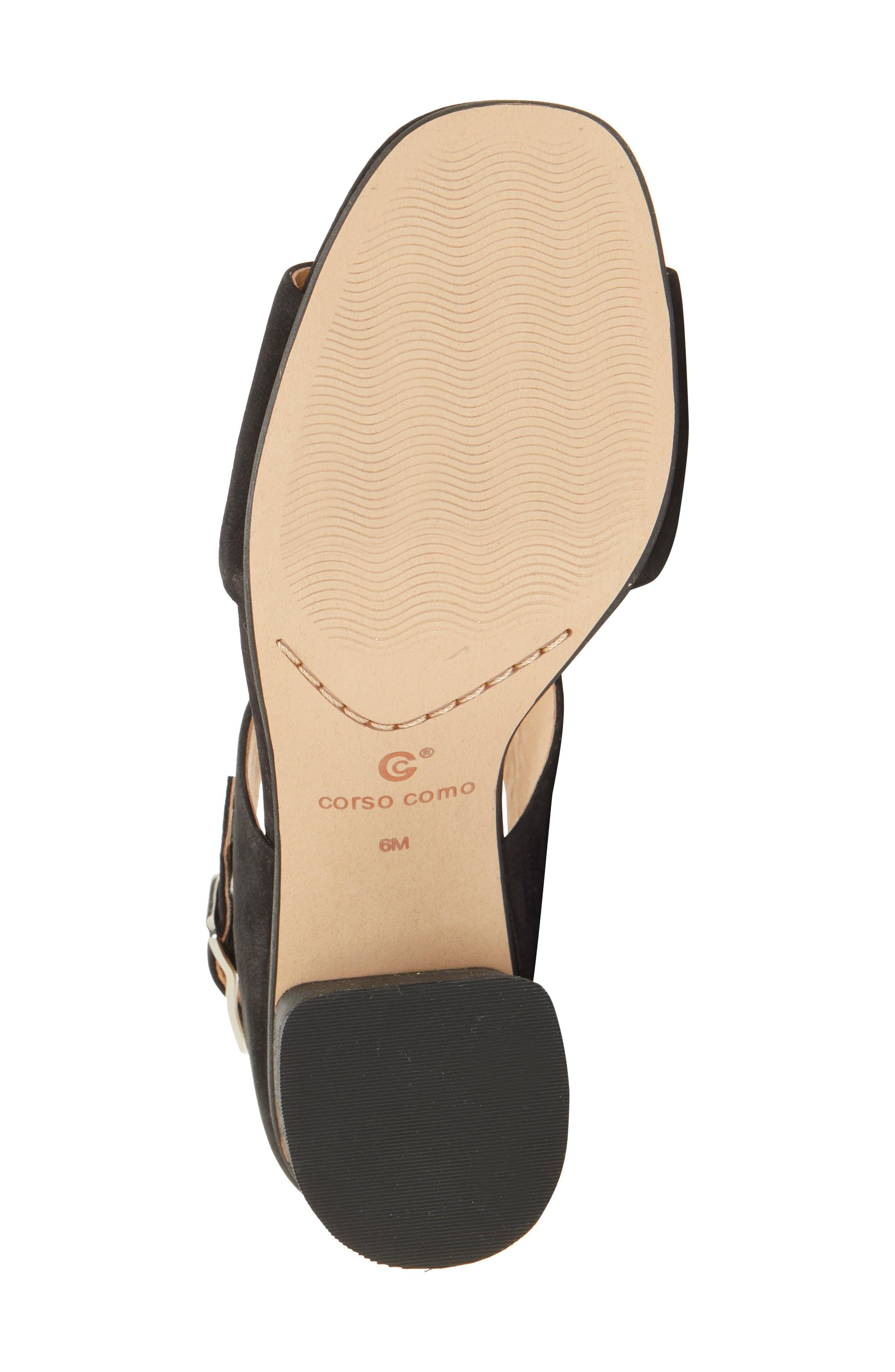 CC CORSO COMO<SUP>®</SUP>,                             CC Corso Como Prysm Block Heel Sandal,                             Alternate thumbnail 6, color,                             BLACK LEATHER