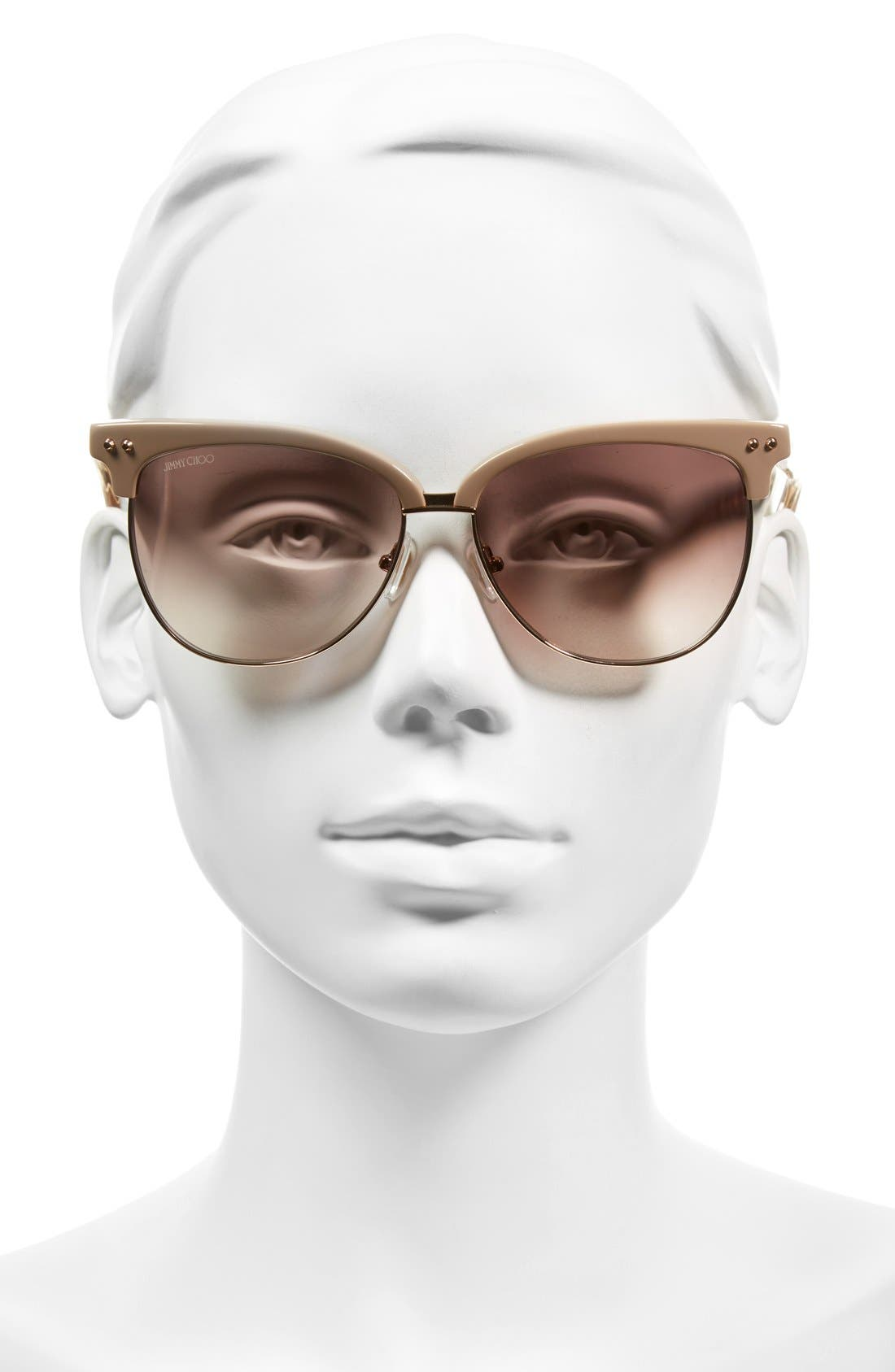 'Aryaya' 57mm Retro Sunglasses,                             Alternate thumbnail 3, color,