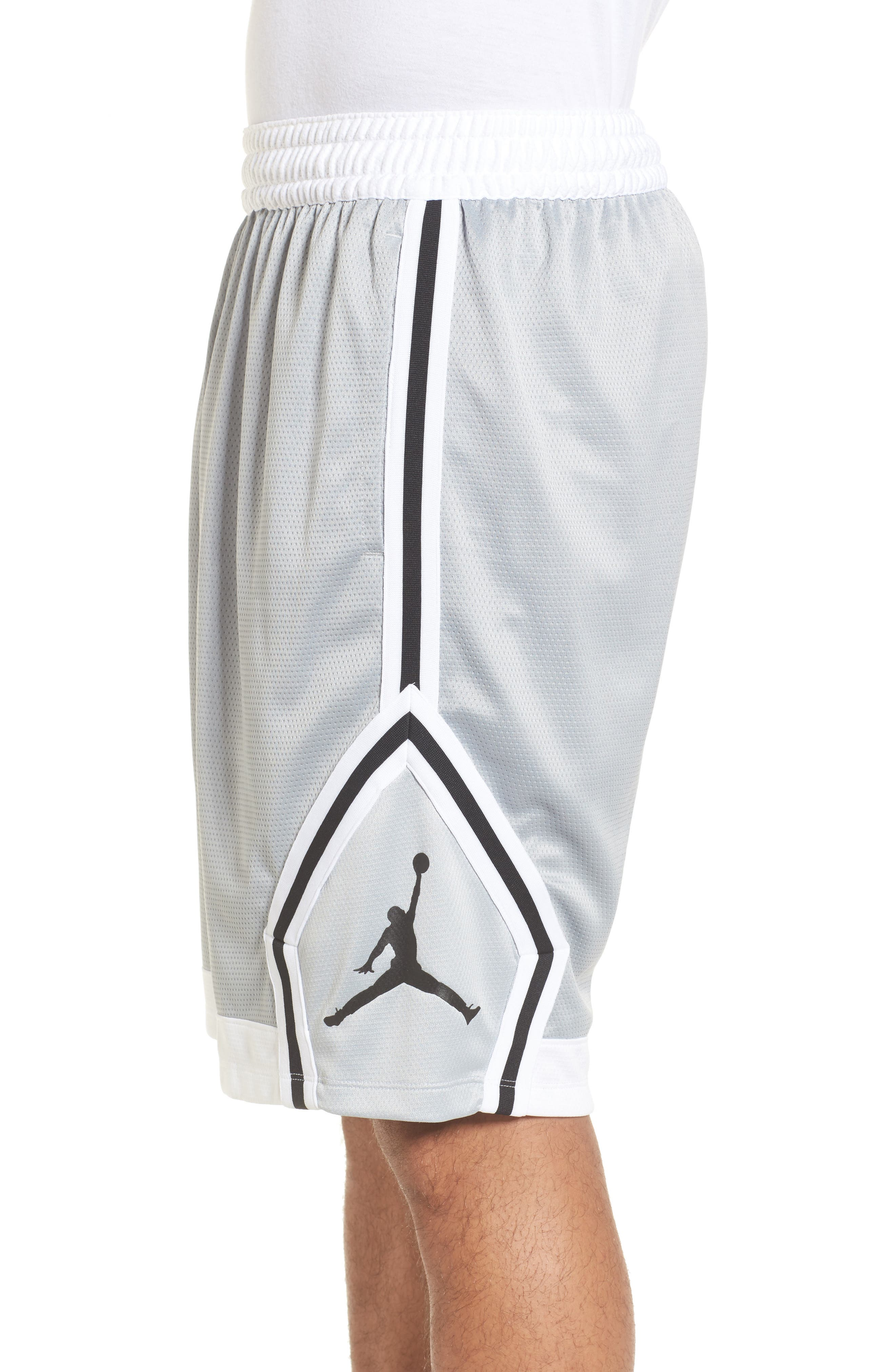 Sportswear Rise Diamond Shorts,                             Alternate thumbnail 3, color,                             011