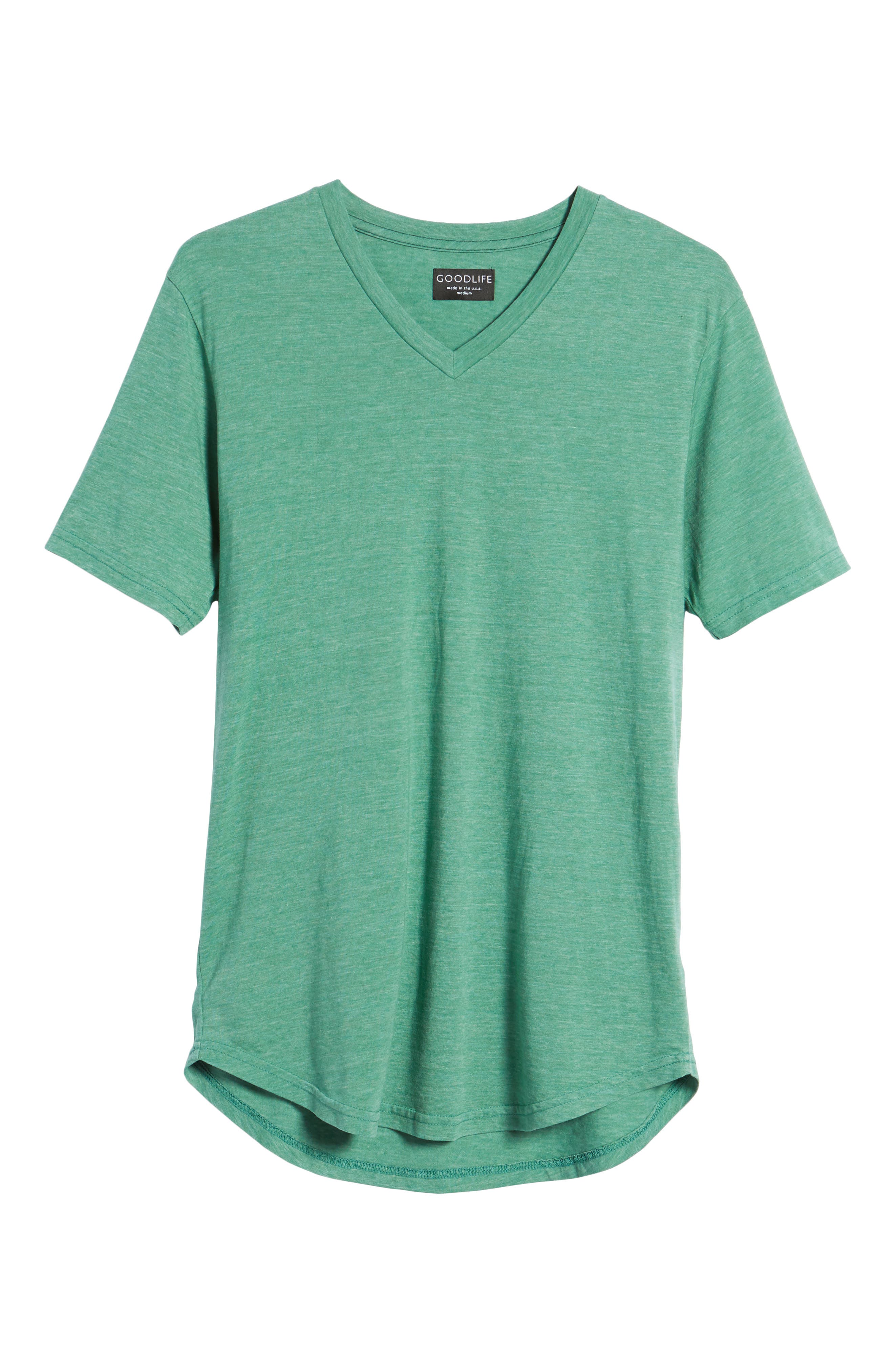 Scallop Triblend V-Neck T-Shirt,                             Alternate thumbnail 121, color,