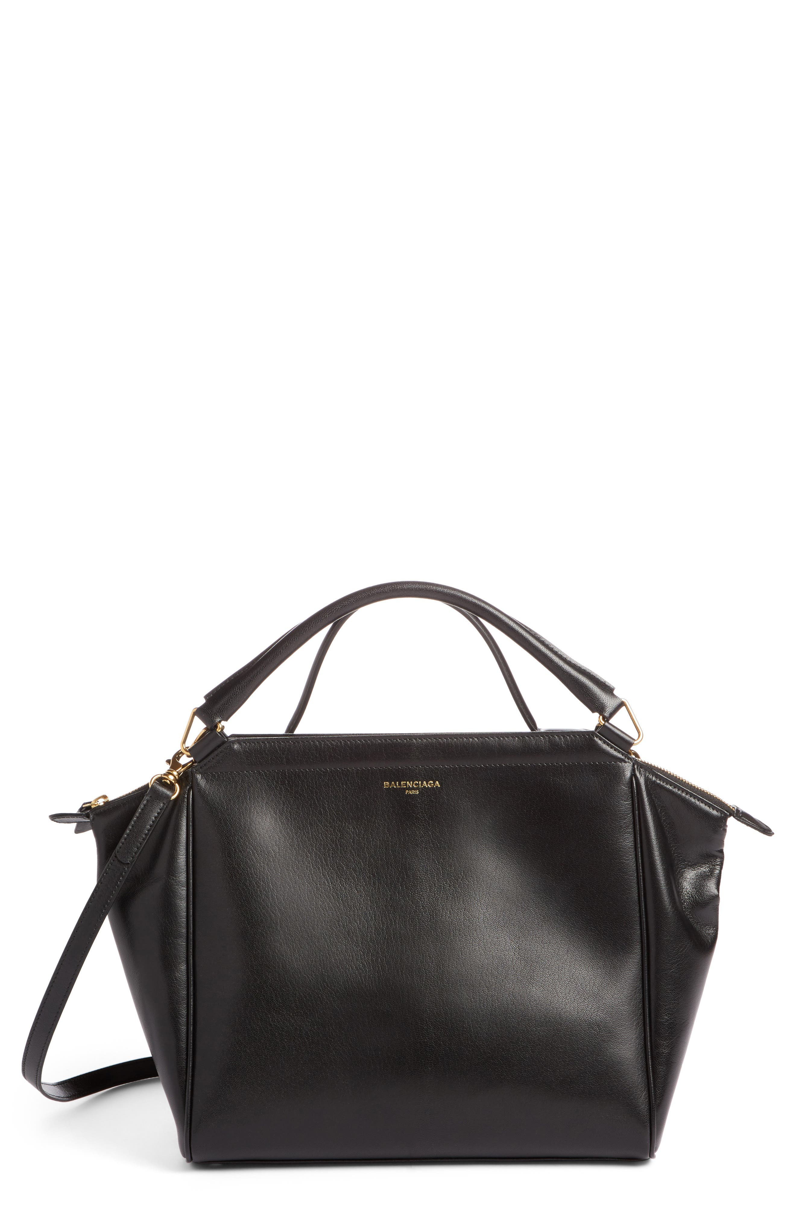 Collage Double Calfskin Leather Bag,                         Main,                         color, 001