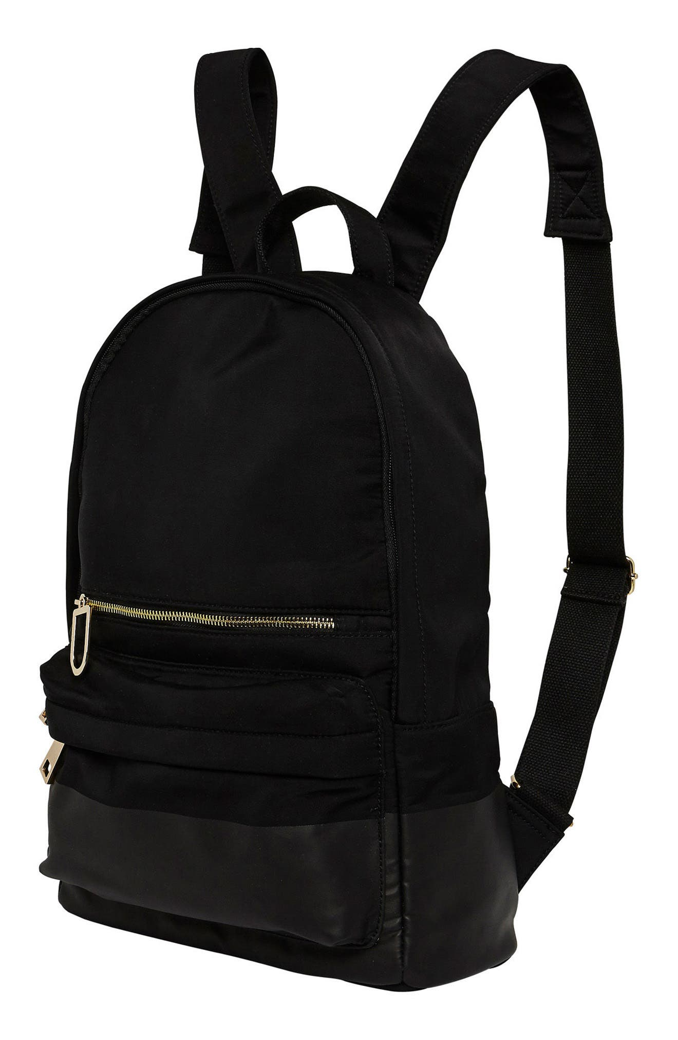 Own Beat Vegan Leather Backpack,                             Alternate thumbnail 5, color,                             001