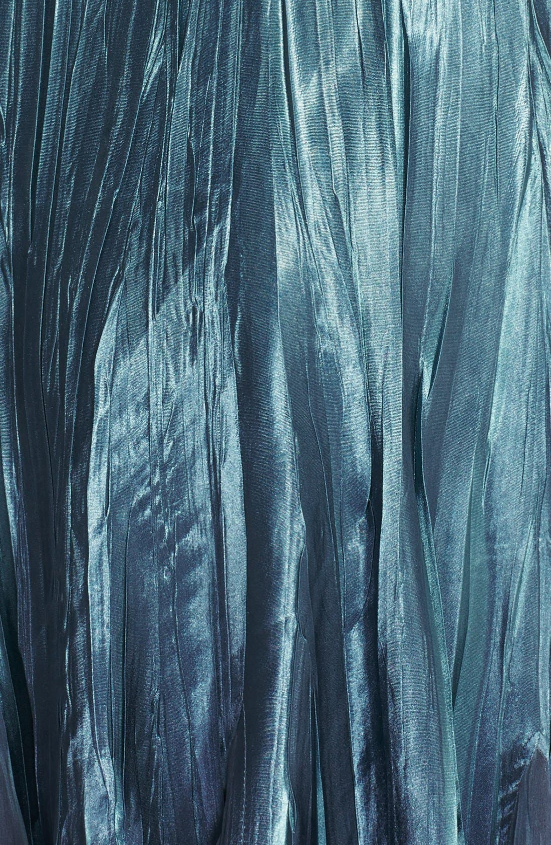 Embellished Pleat Mixed Media Dress with Jacket,                             Alternate thumbnail 7, color,                             SILVER BLUE OMBRE