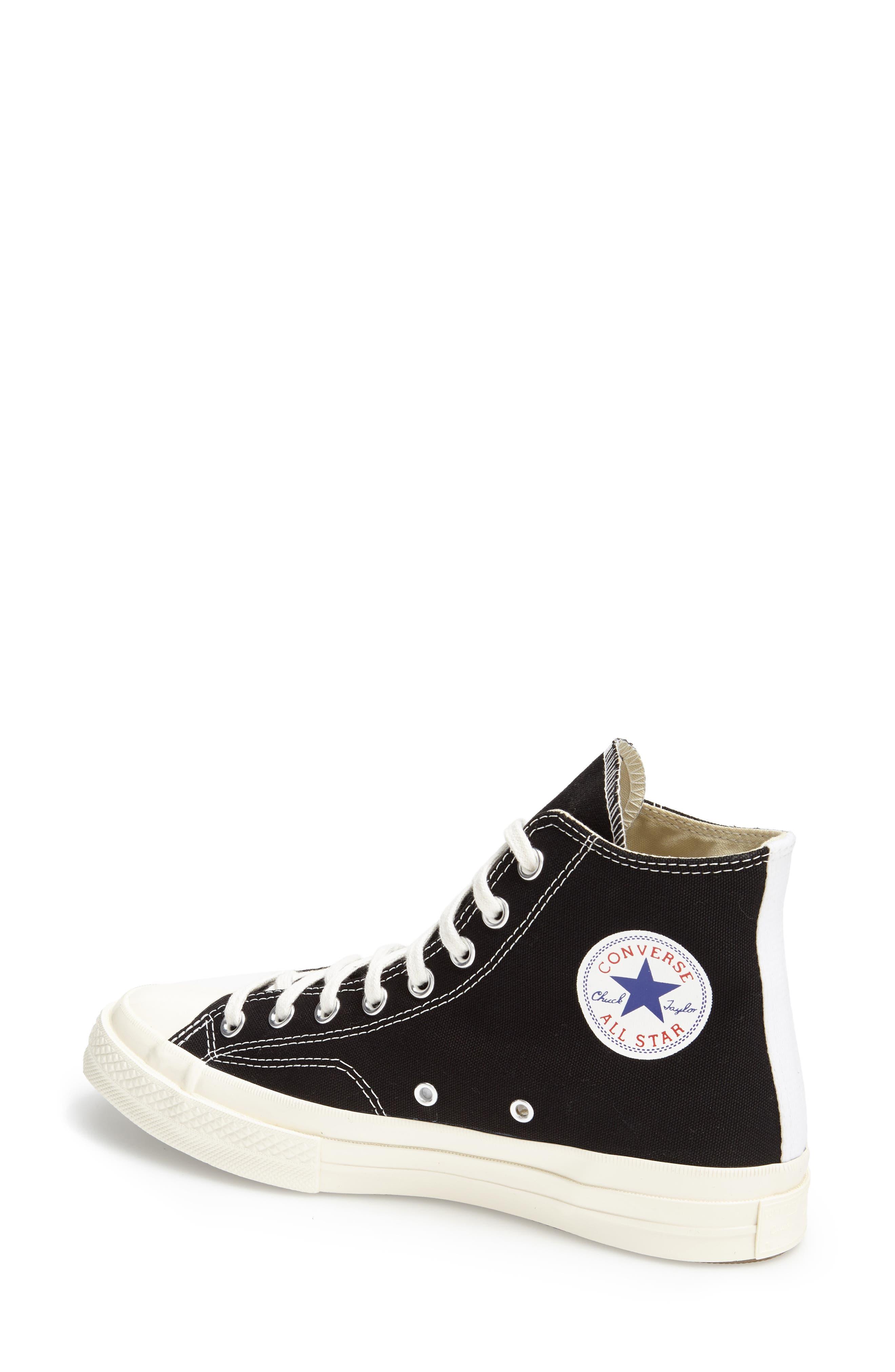 x Converse Chuck Taylor<sup>®</sup> Hidden Heart High Top Sneaker,                             Alternate thumbnail 2, color,                             001