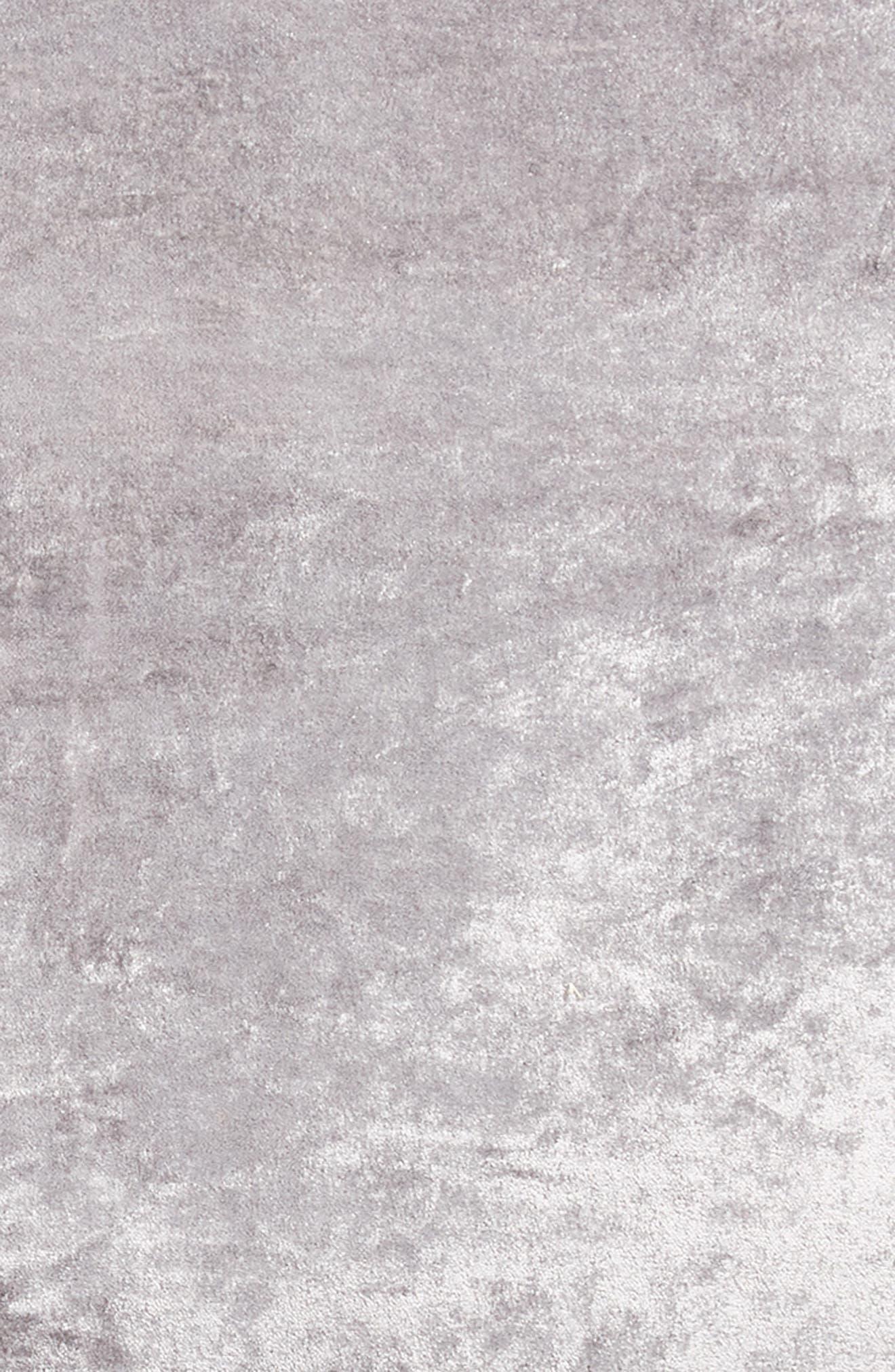 Shimmer Velvet Euro Sham,                             Alternate thumbnail 3, color,                             GREY FROST