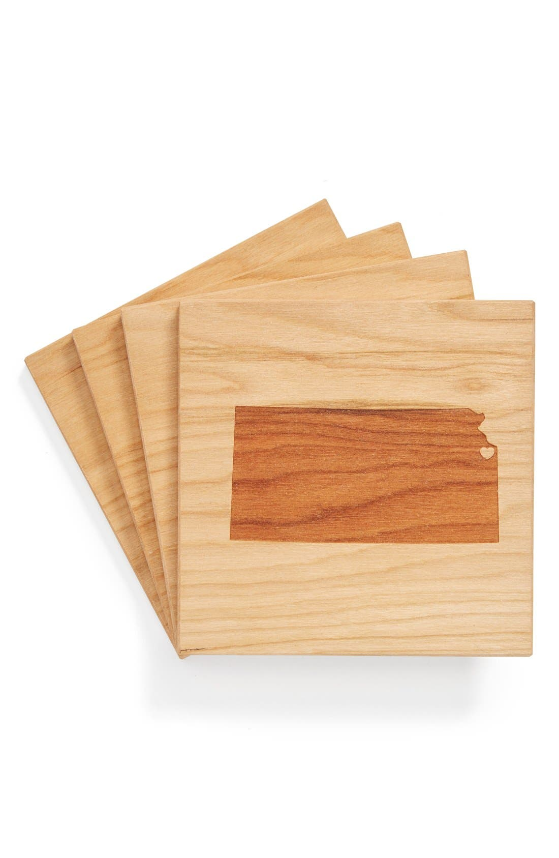'State Silhouette' Coasters,                             Main thumbnail 27, color,