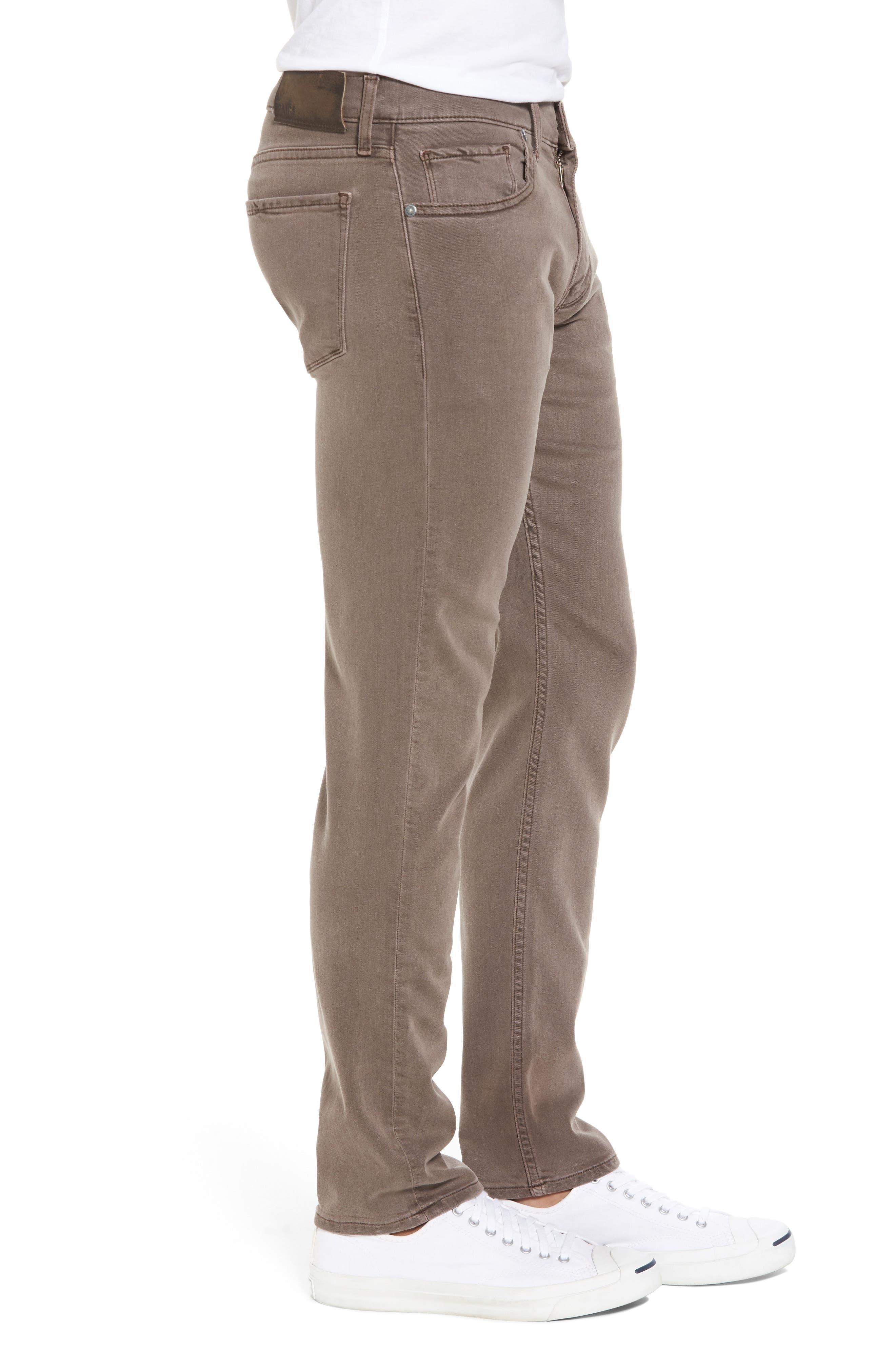 Transcend - Lennox Slim Fit Jeans,                             Alternate thumbnail 3, color,                             VINTAGE SAND BAR