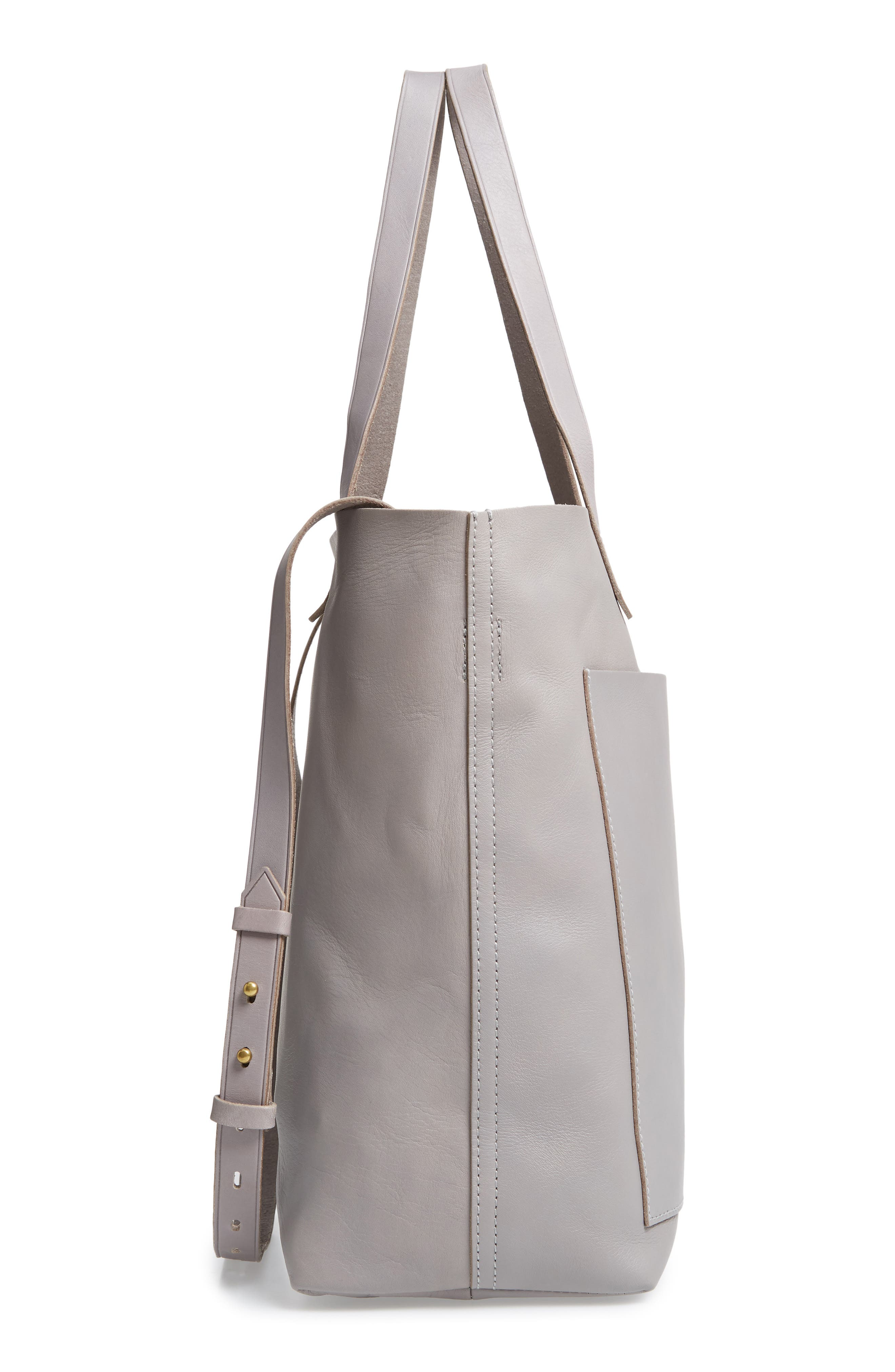 Medium Leather Transport Tote,                             Alternate thumbnail 62, color,