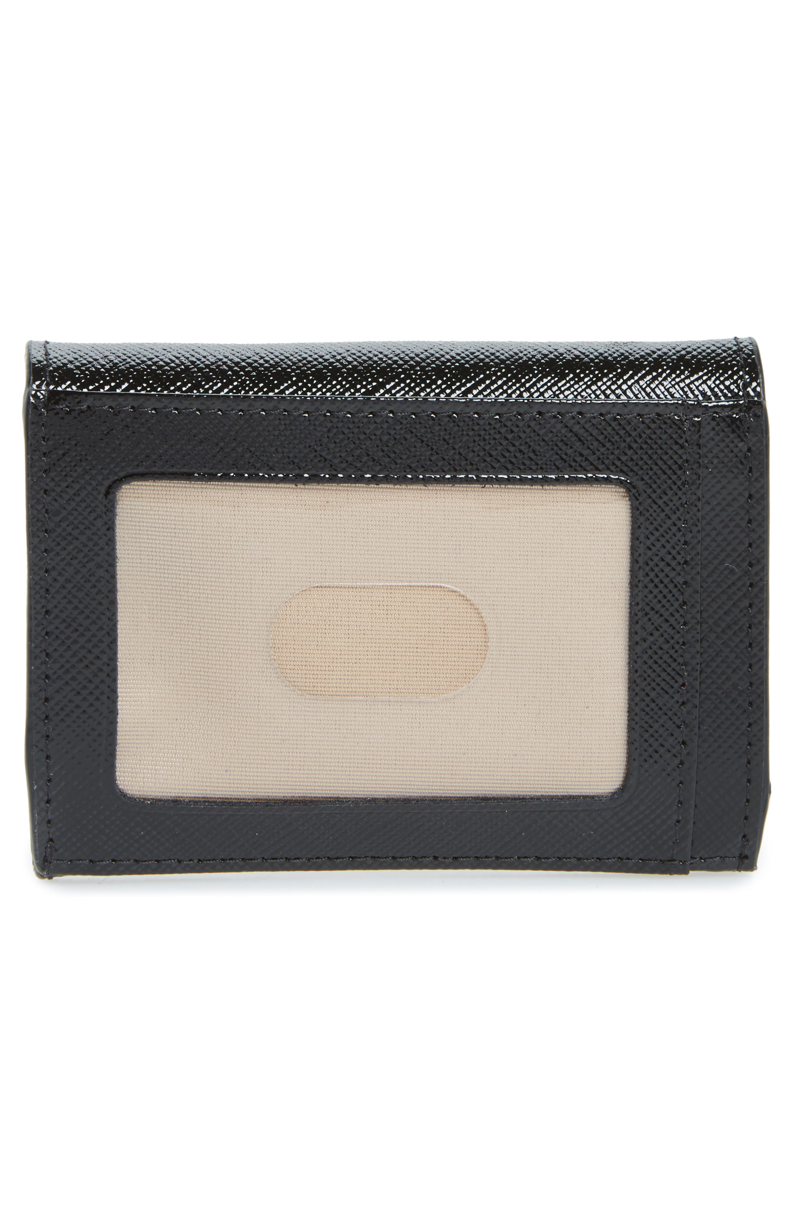 Leather Card Holder,                             Alternate thumbnail 3, color,                             001
