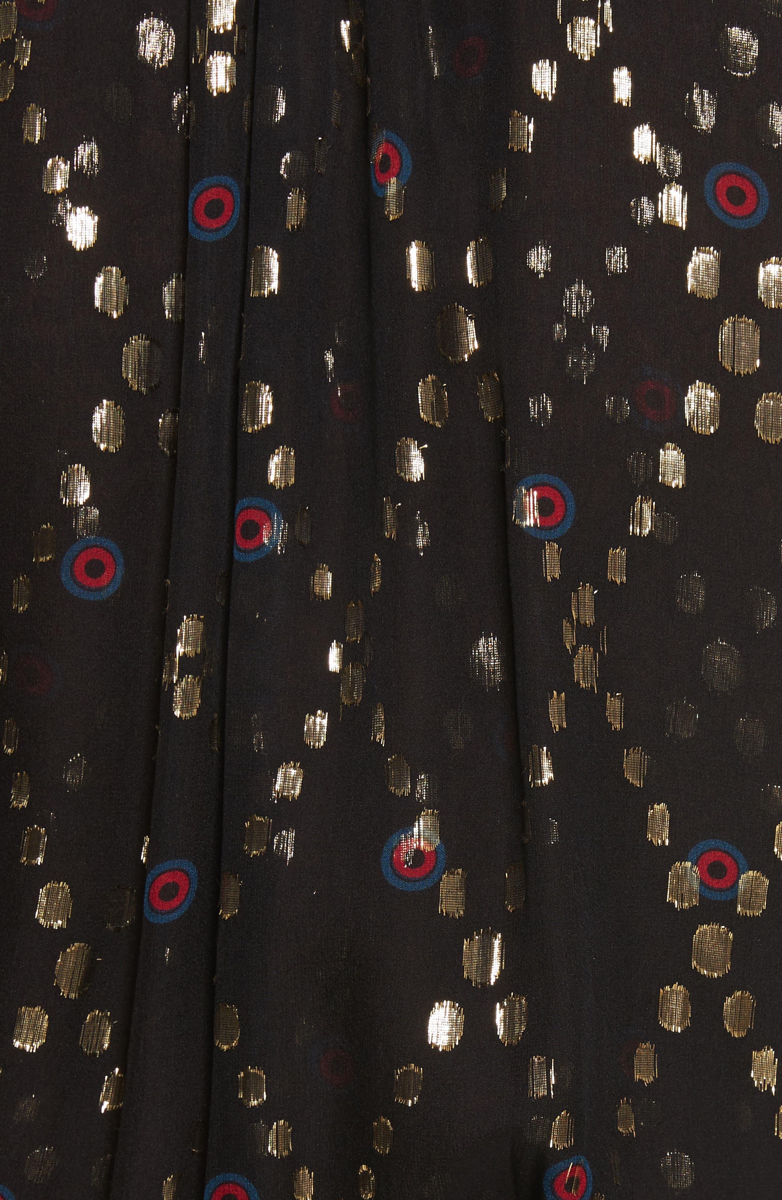 Tula Silk Dress,                             Alternate thumbnail 5, color,                             002