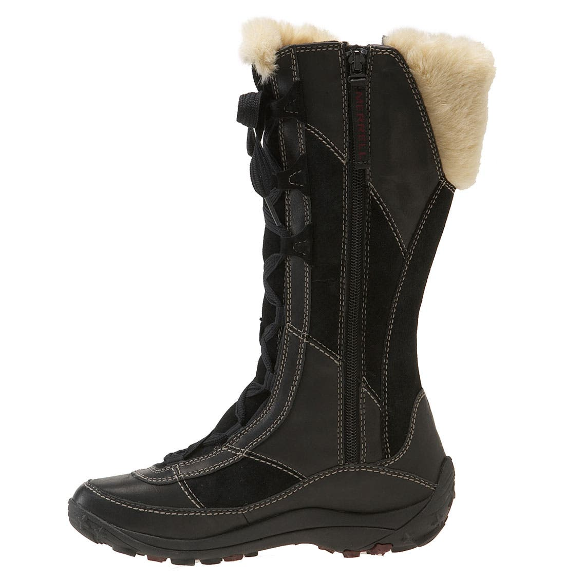 'Prevoz' Waterproof Tall Boot,                             Alternate thumbnail 4, color,                             001