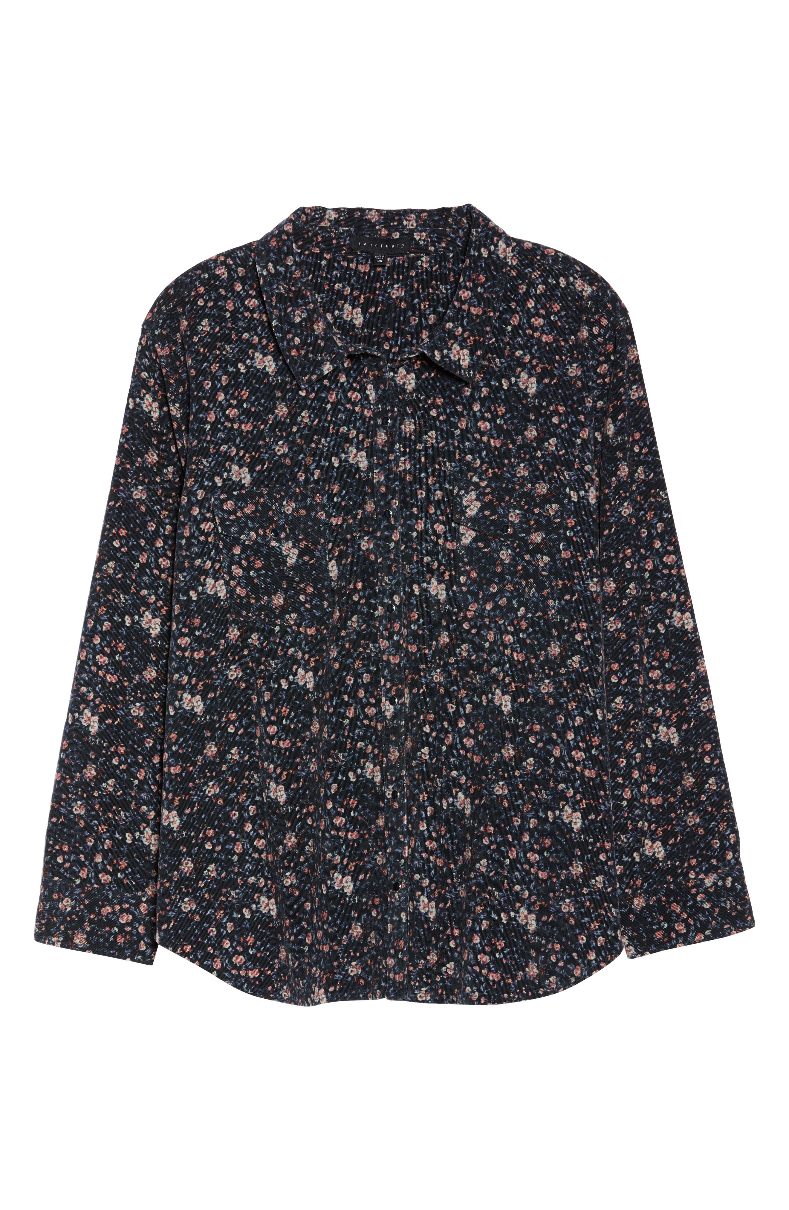 Floral Work Shirt,                             Alternate thumbnail 6, color,                             PIXIE REVL