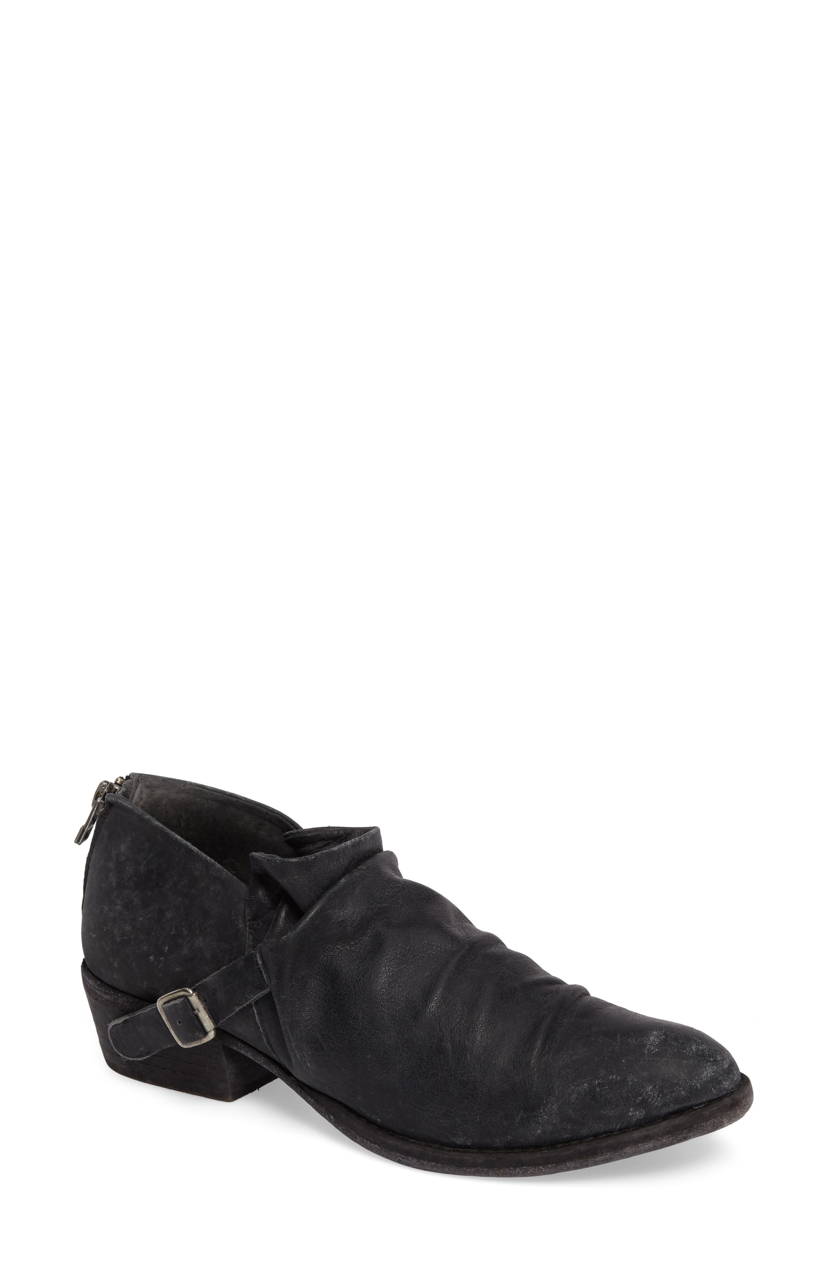 Wills Ruched Bootie,                             Main thumbnail 1, color,                             001