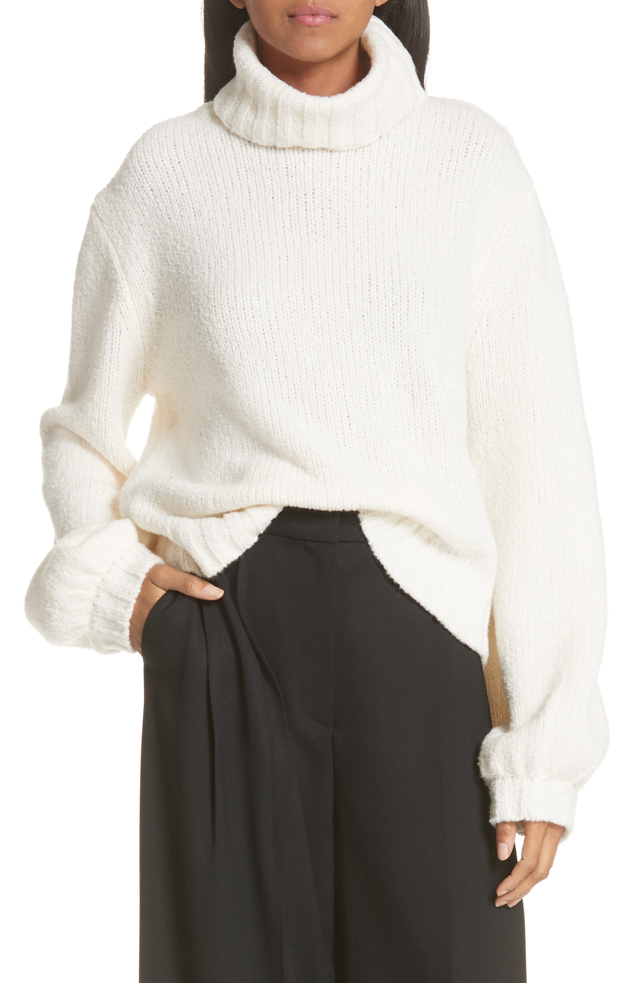 A.L.C. Brinkley Wool & Silk Sweater, Main, color, 100