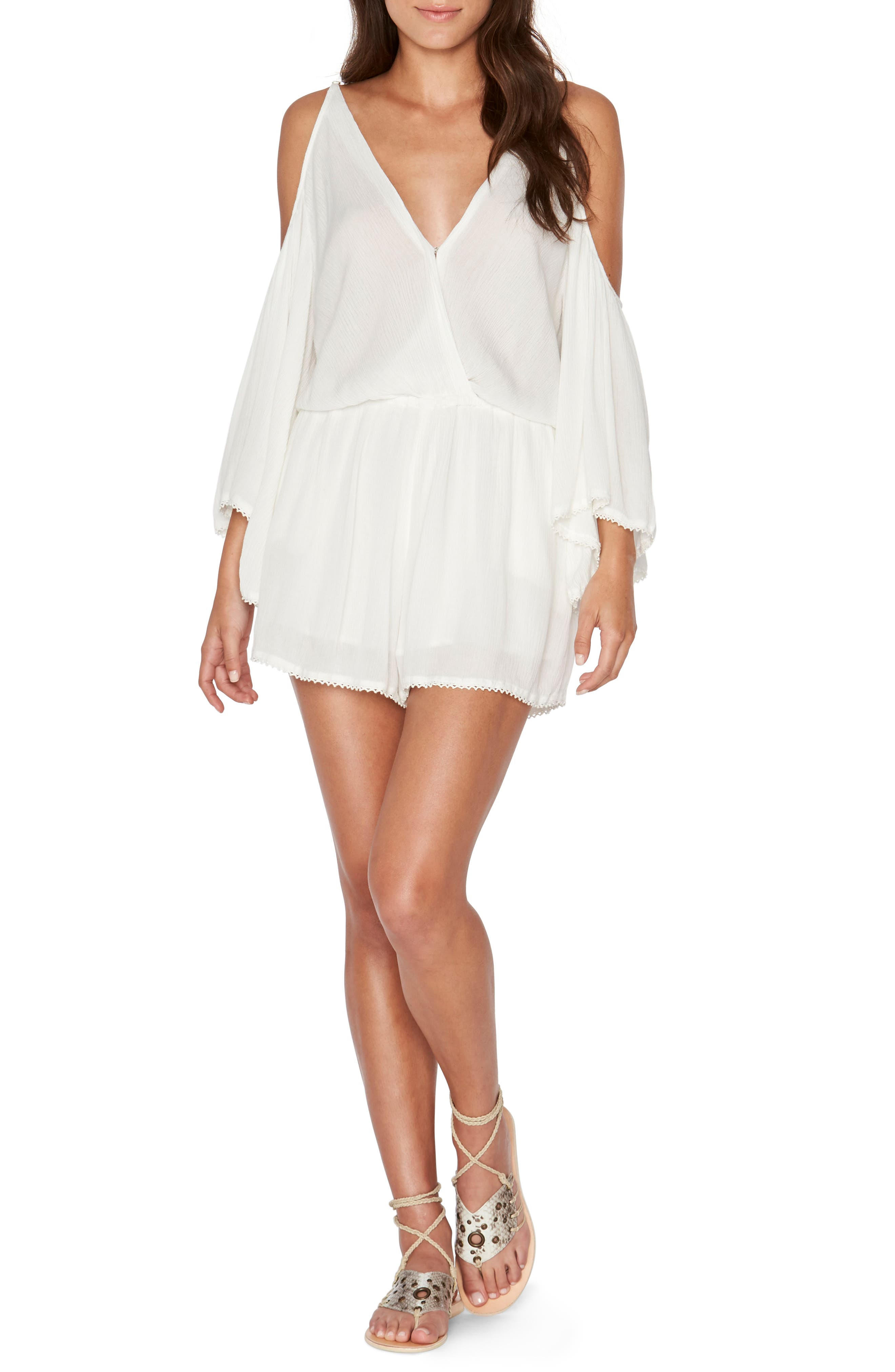 Soho Cold Shoulder Cover-Up Romper,                             Main thumbnail 2, color,