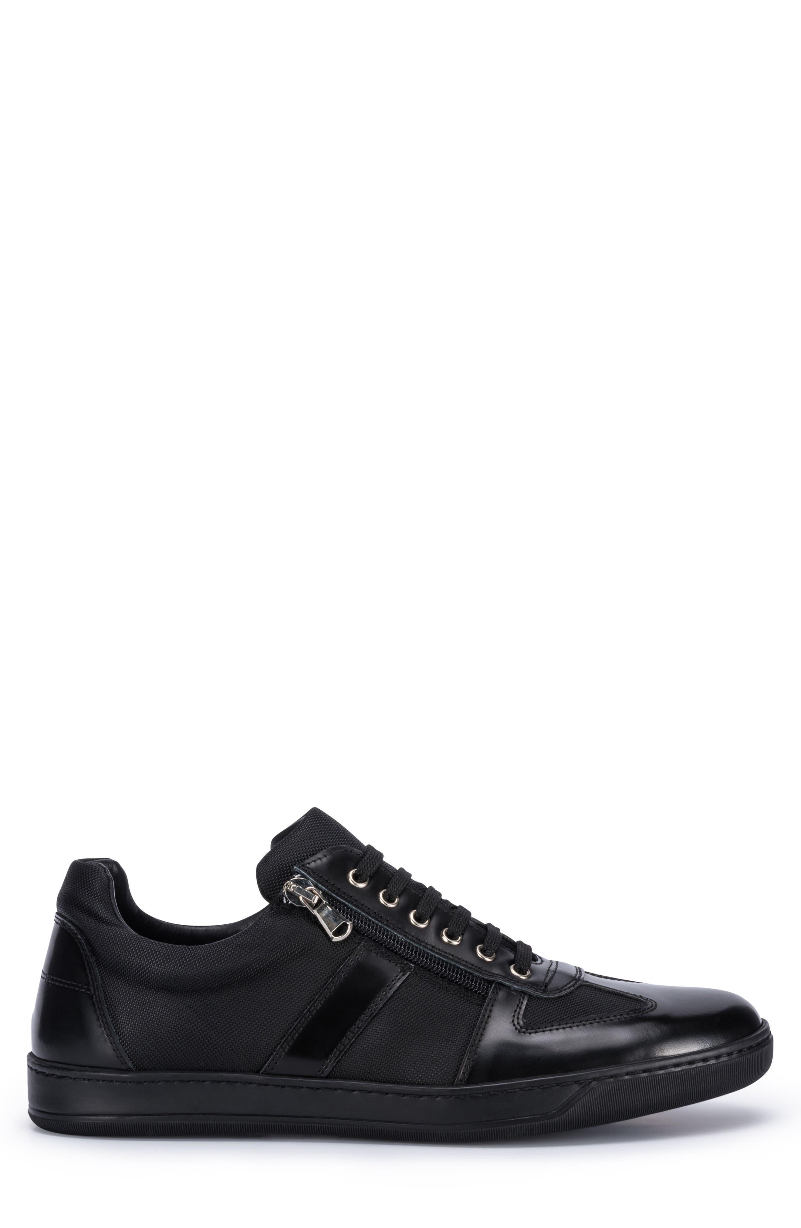 Paris Sneaker,                             Alternate thumbnail 3, color,                             BLACK