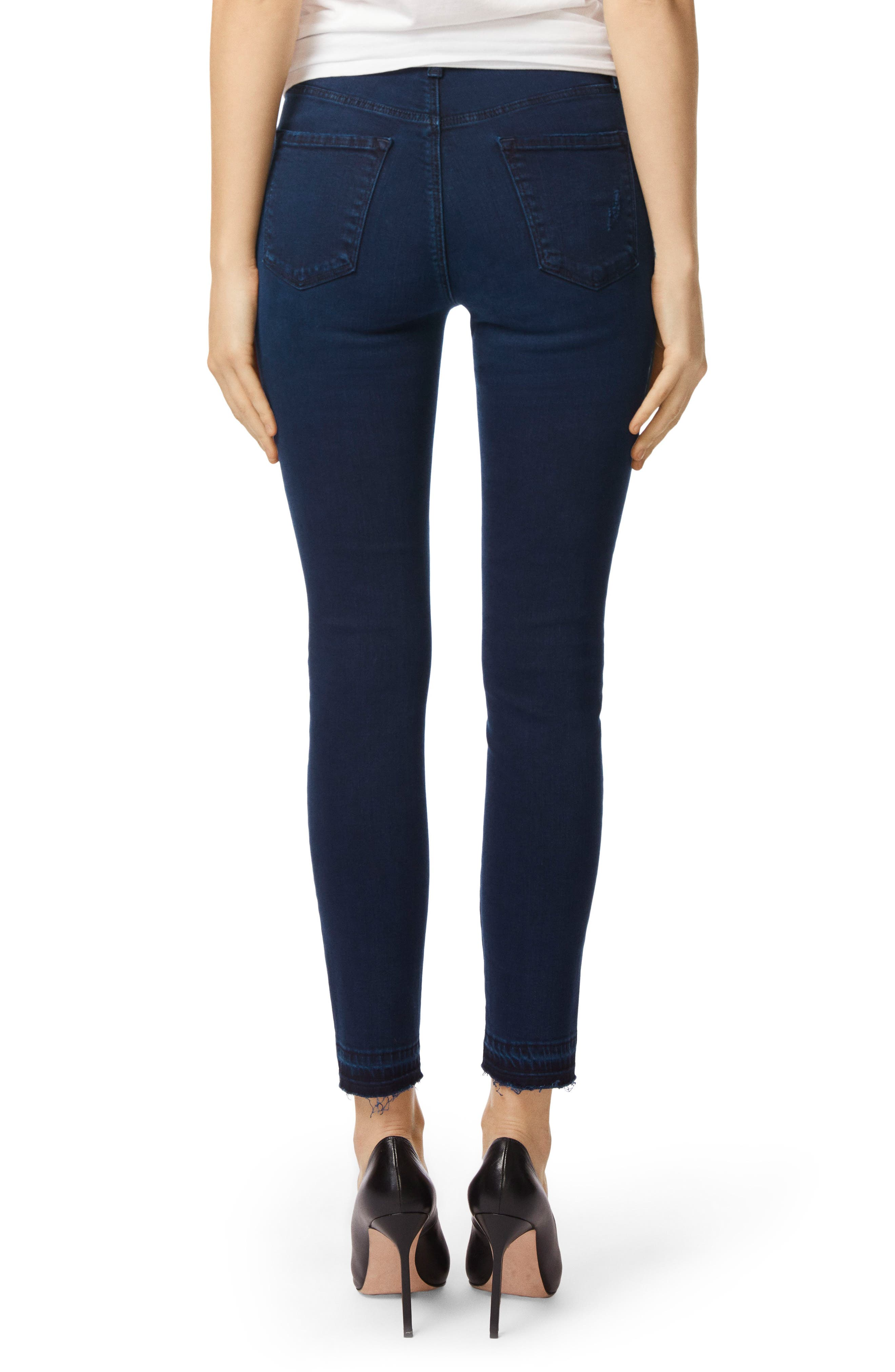 Alana Released Hem High Rise Crop Skinny Jeans,                             Alternate thumbnail 2, color,                             INVOKE DESTRUCT