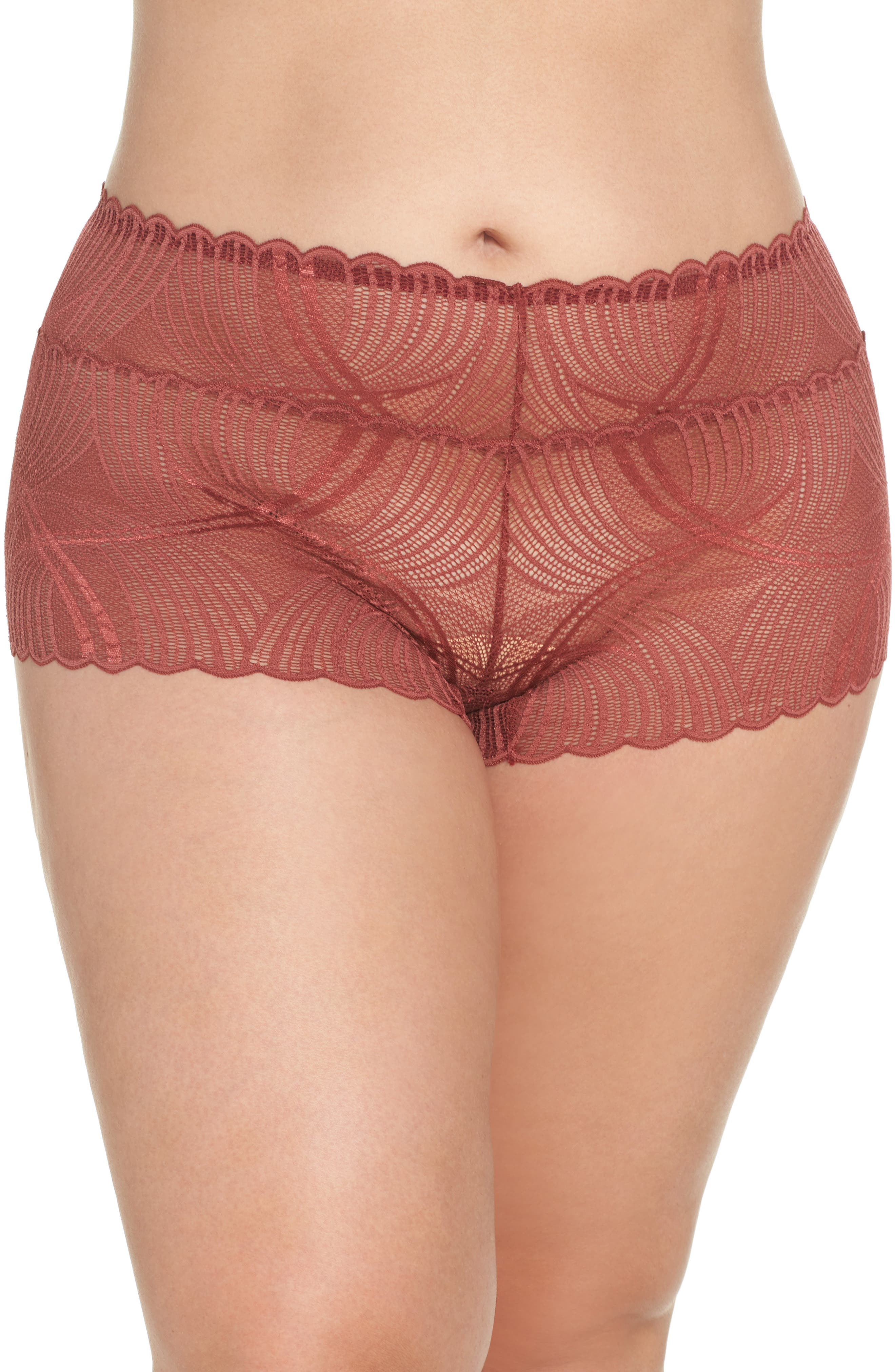 Minoa Naughtie Open Gusset Boyshorts,                             Main thumbnail 2, color,