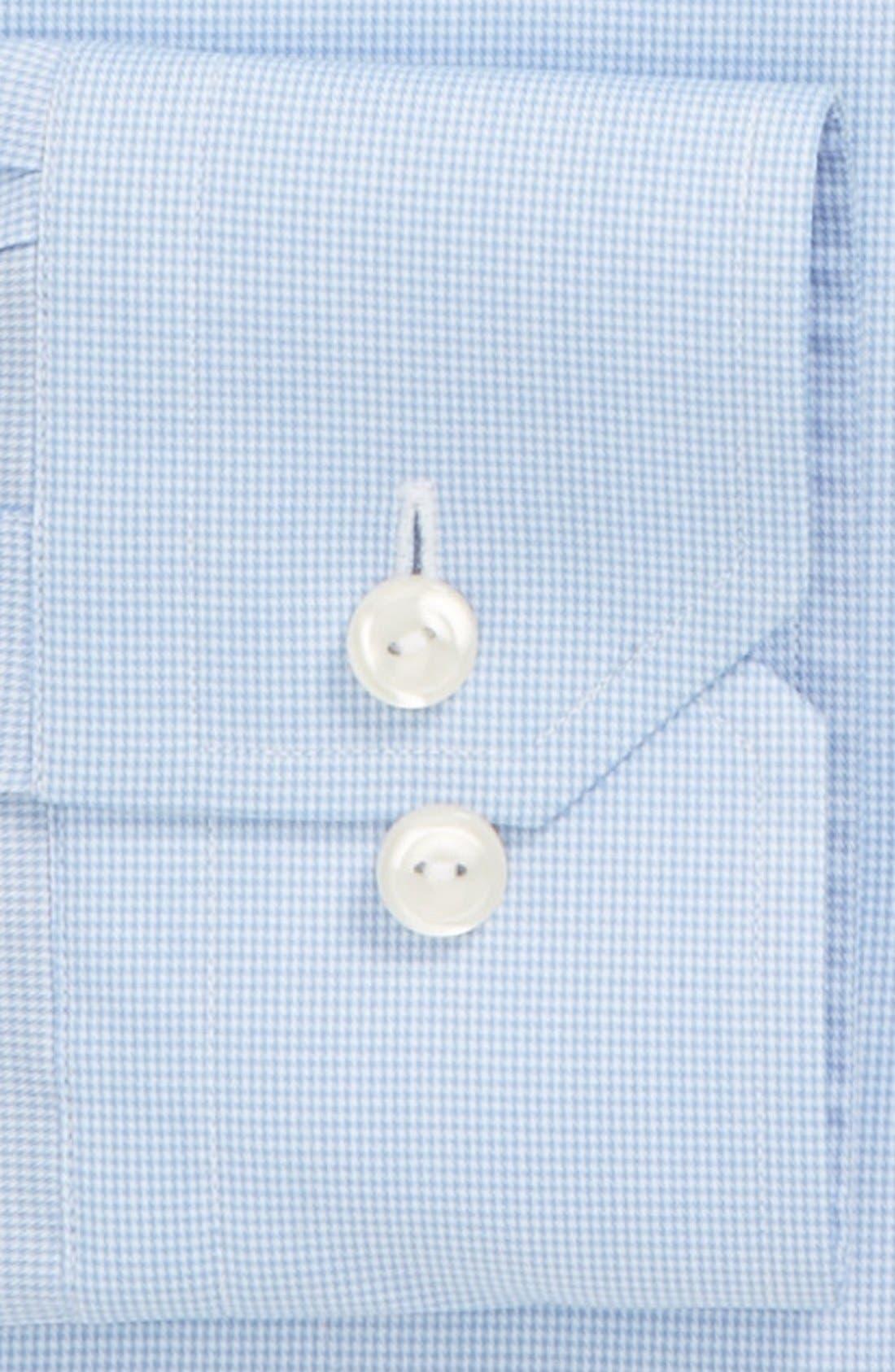 Slim Fit Houndstooth Dress Shirt,                             Alternate thumbnail 3, color,                             400