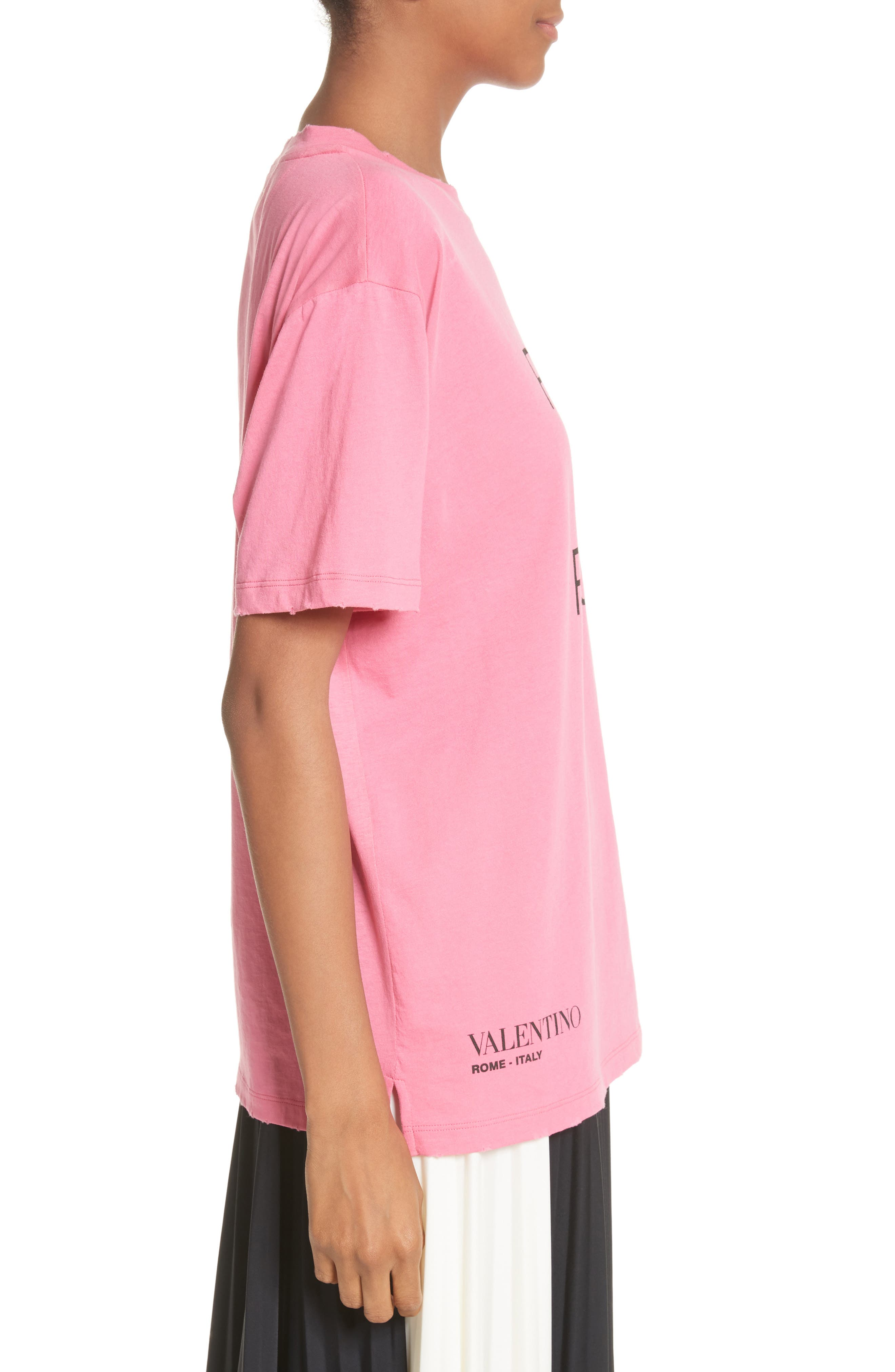 Pink Is Punk Cotton Tee,                             Alternate thumbnail 3, color,                             664