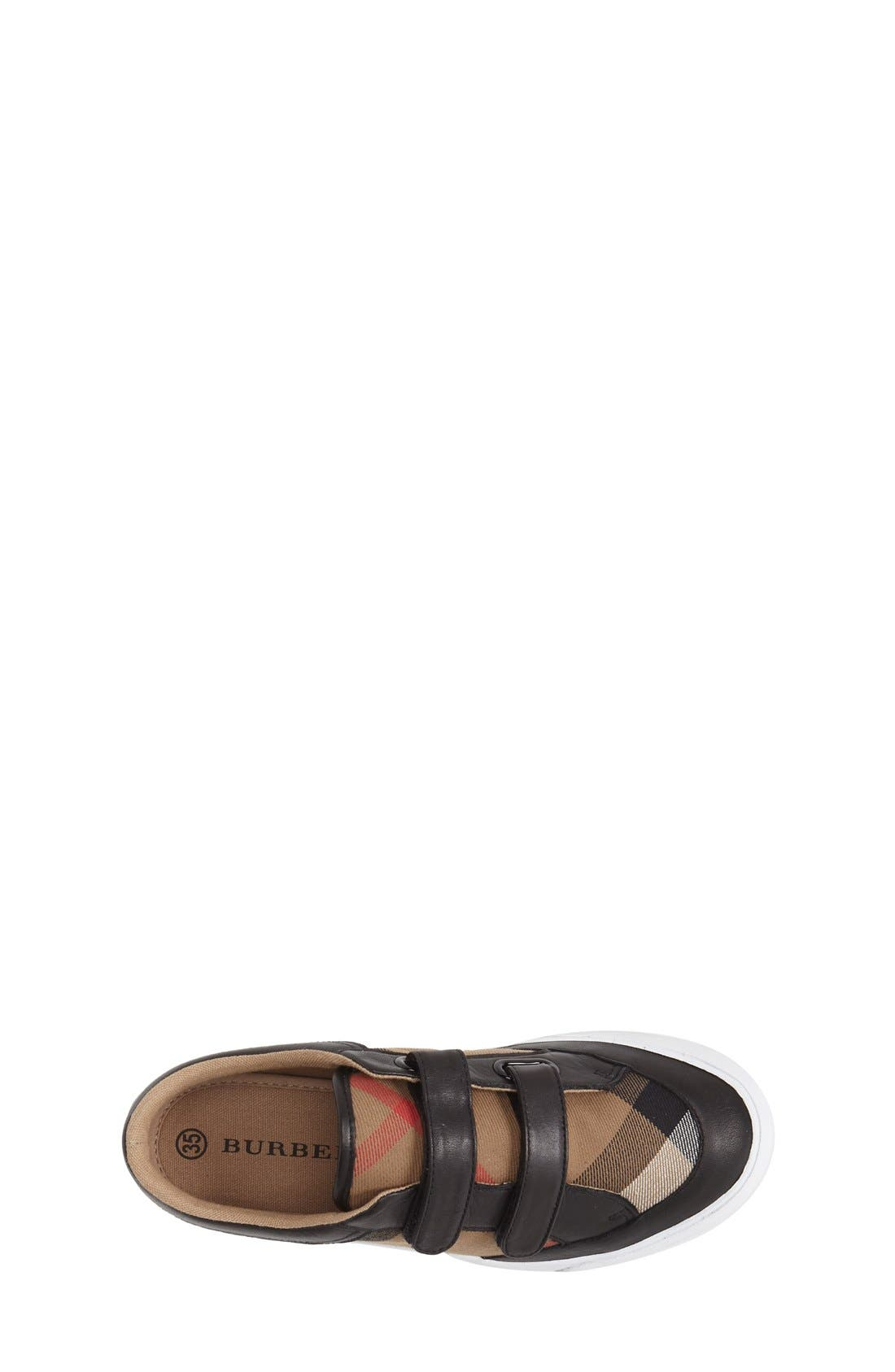 BURBERRY,                             Mini Heacham Sneaker,                             Alternate thumbnail 4, color,                             001