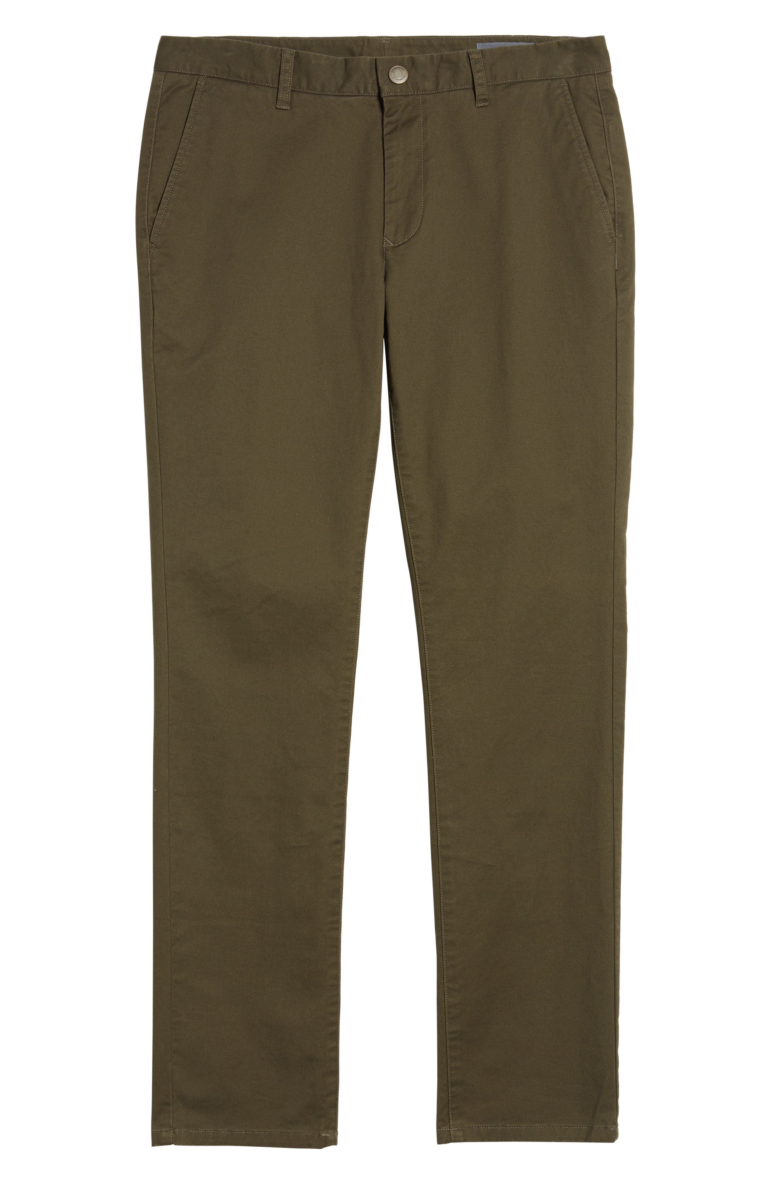 Tailored Fit Washed Stretch Cotton Chinos,                             Alternate thumbnail 199, color,