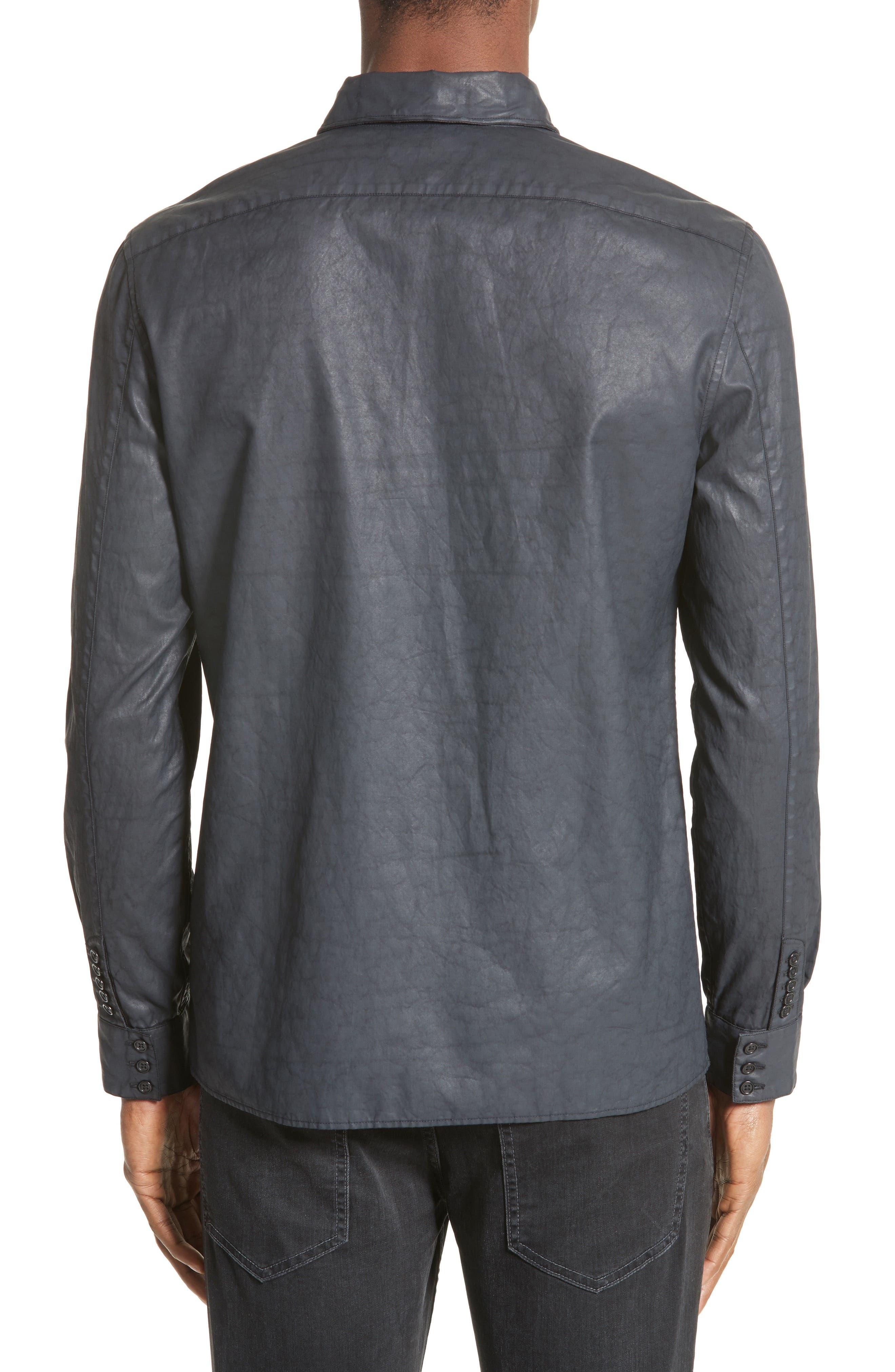 Double Zip Pocket Coated Shirt,                             Alternate thumbnail 3, color,                             490