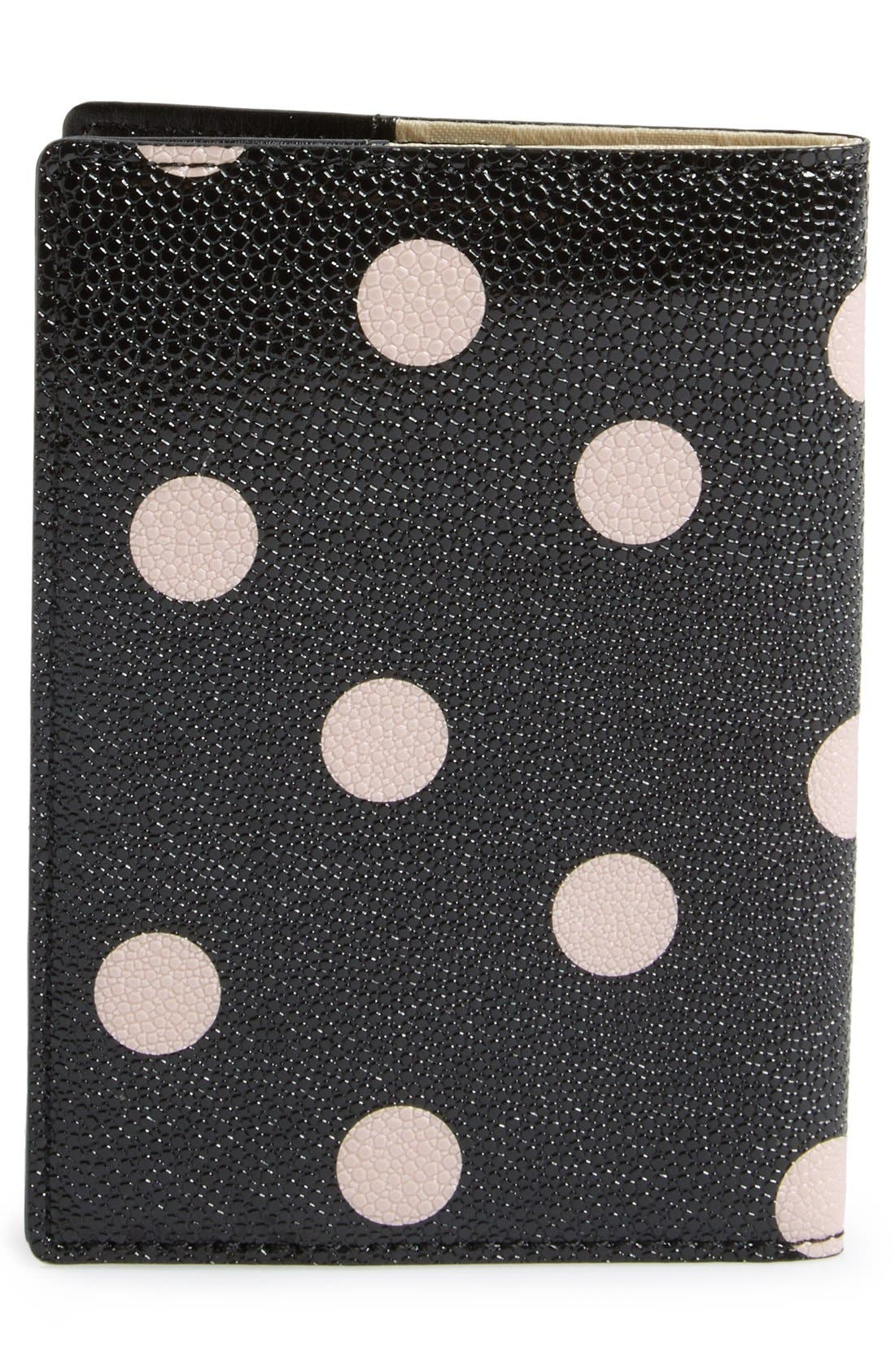 'cedar street dot' passport holder,                             Alternate thumbnail 4, color,                             002
