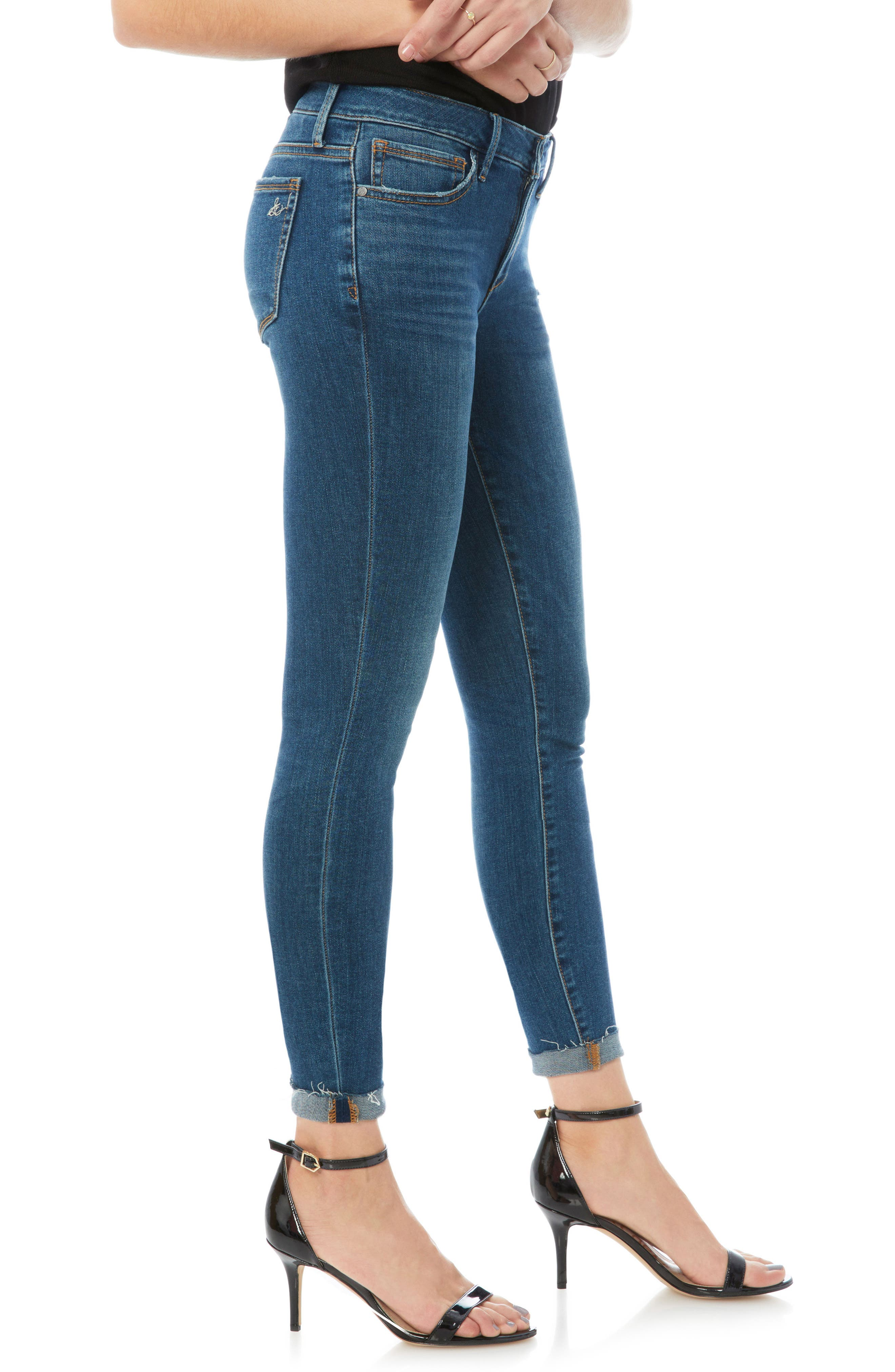 The Kitten Raw Edge Skinny Jeans,                             Alternate thumbnail 3, color,                             LANELLE
