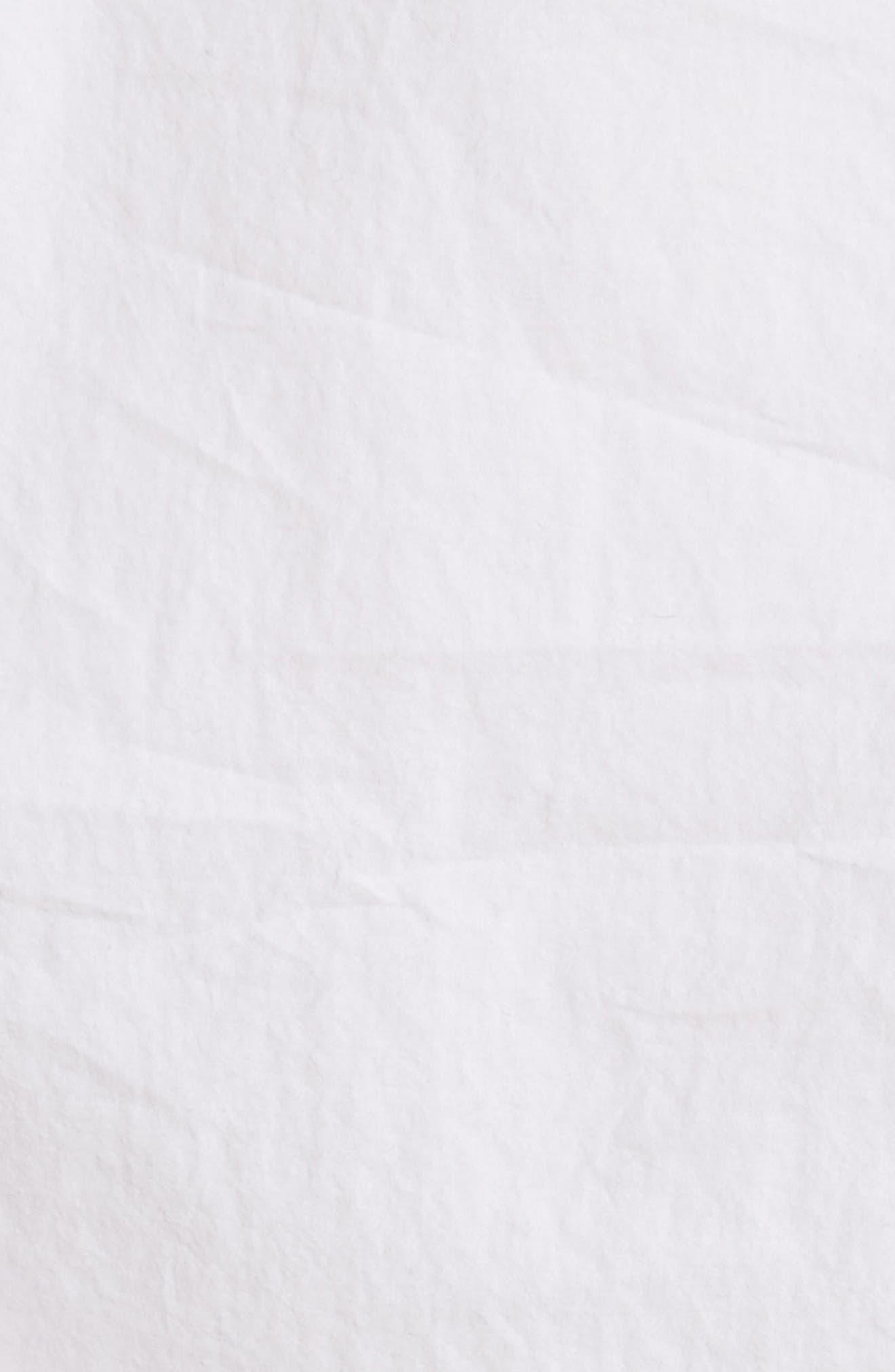 Cotton Poplin One-Shoulder Top,                             Alternate thumbnail 5, color,                             100