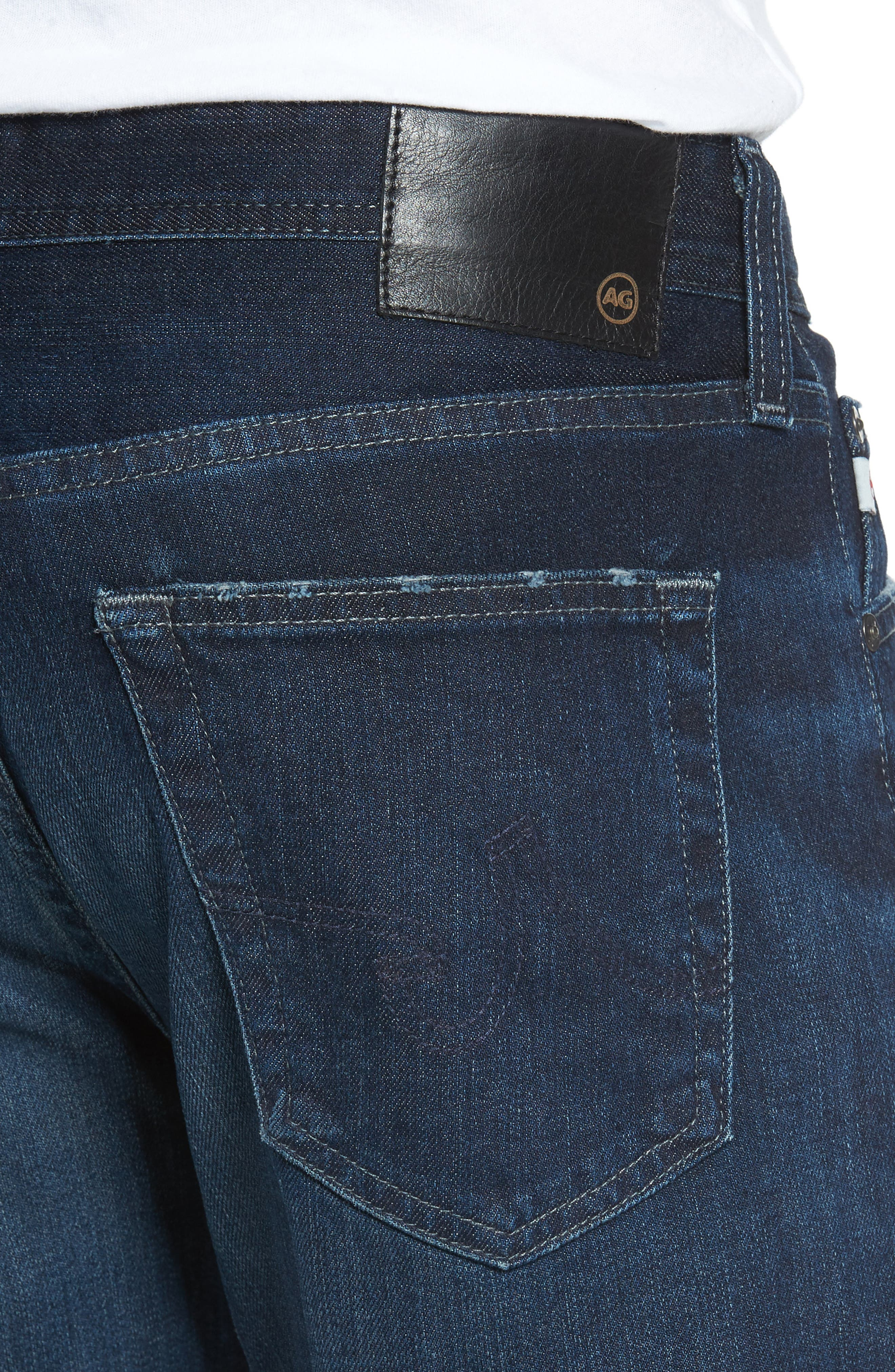 Graduate Slim Straight Fit Jeans,                             Alternate thumbnail 4, color,                             482