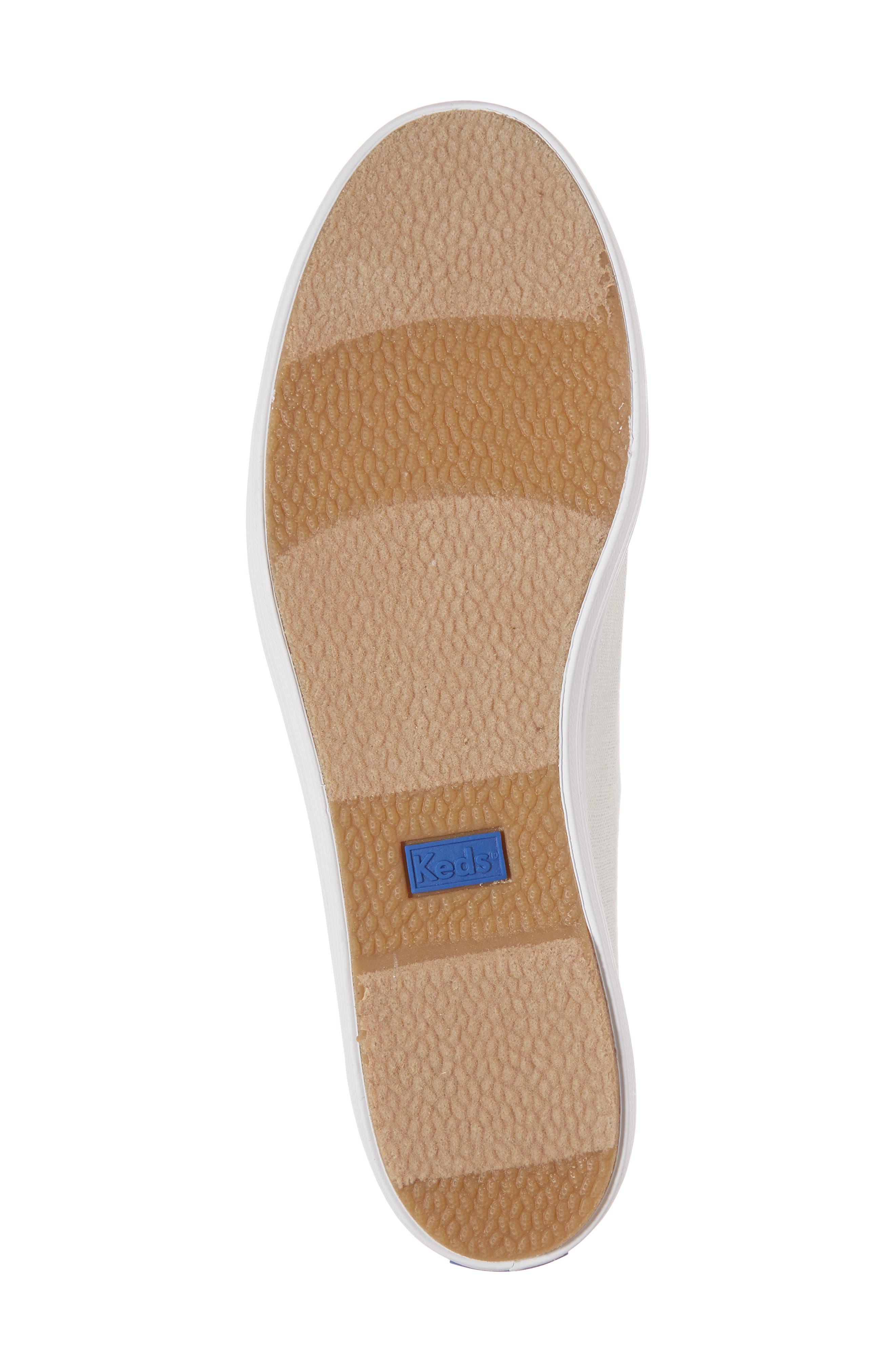 Triple Kick Metallic Linen Sneaker,                             Alternate thumbnail 6, color,                             040