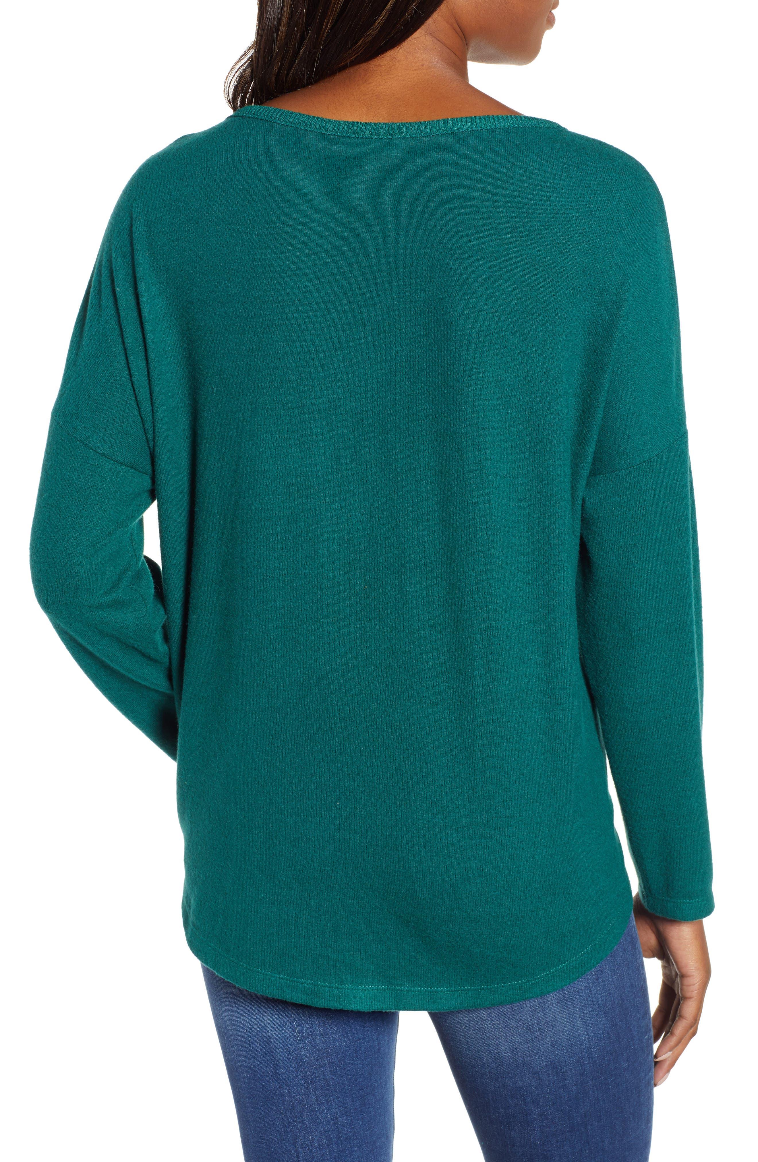Tie Front Cozy Knit Shirt,                             Alternate thumbnail 2, color,                             301