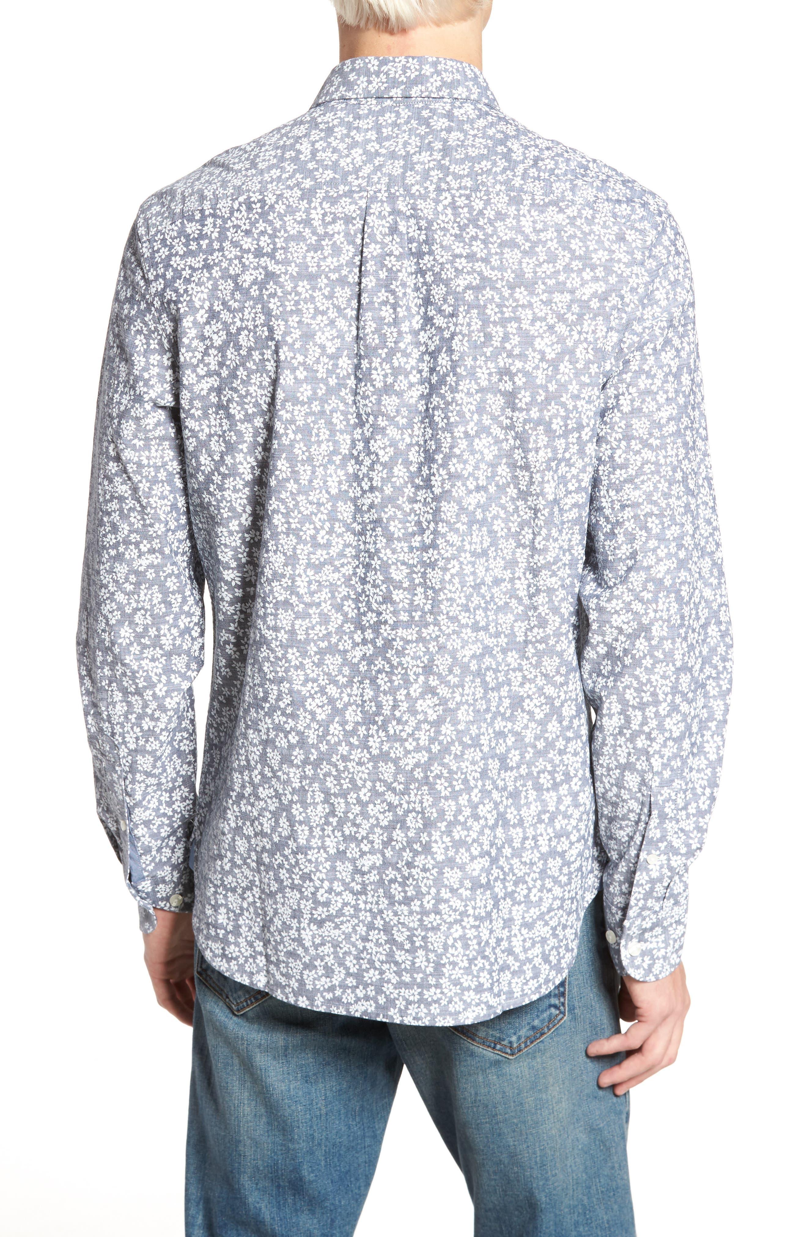 Floral Chambray Shirt,                             Alternate thumbnail 2, color,