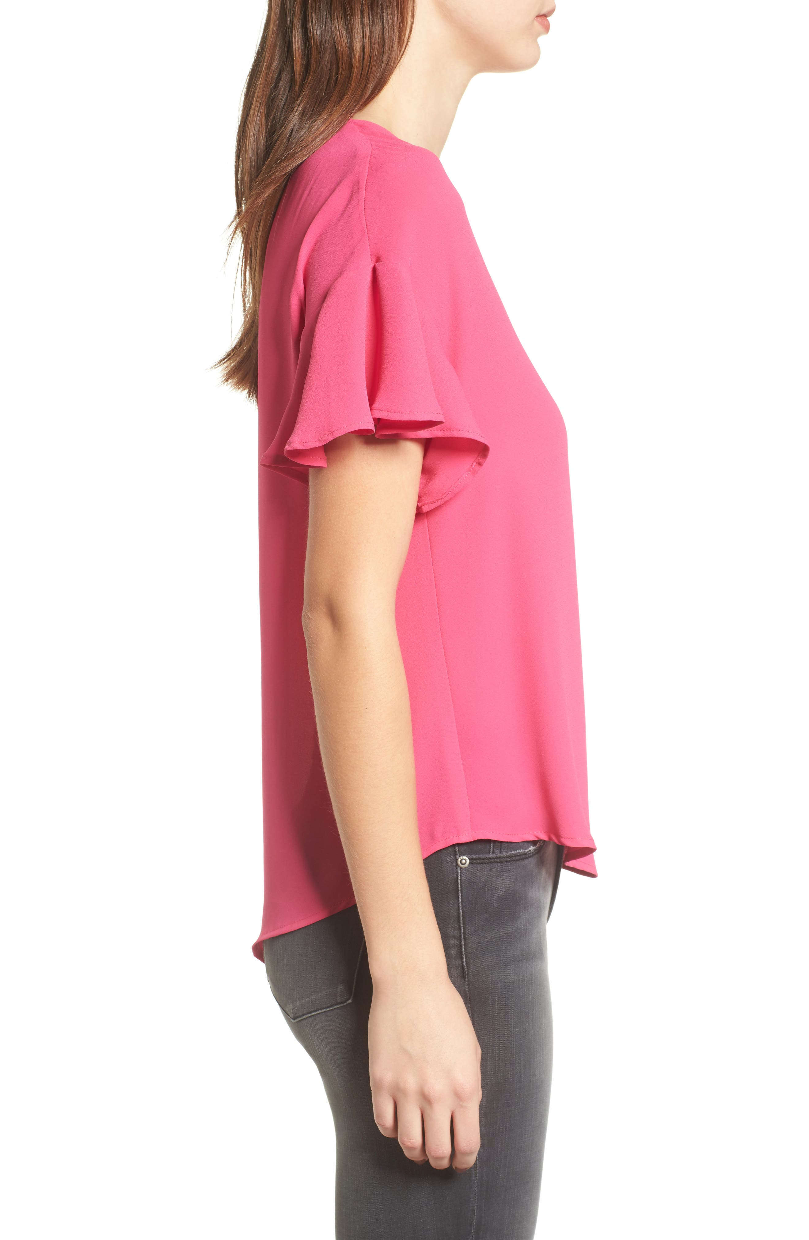 Crepe Tee,                             Alternate thumbnail 22, color,