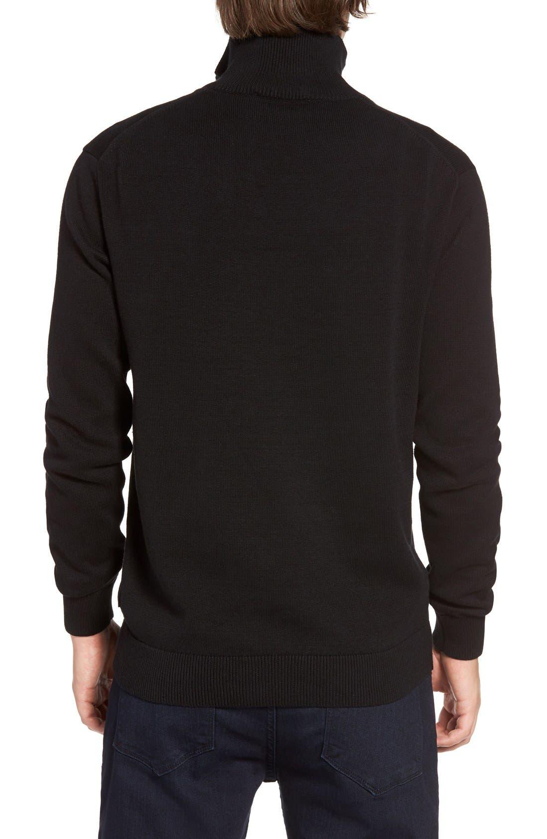 Quarter Zip Sweater,                             Alternate thumbnail 2, color,                             001