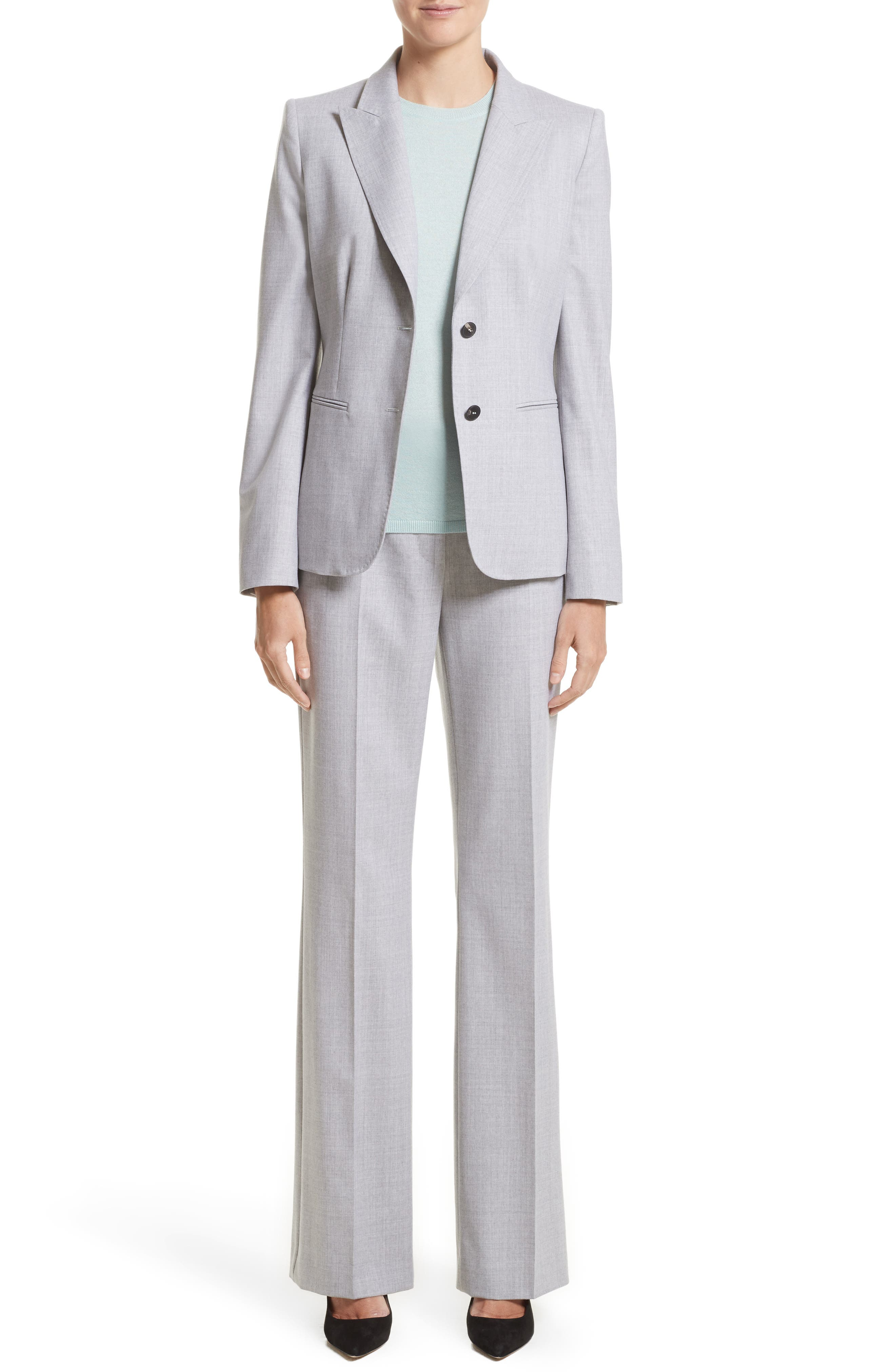 Stretch Wool Jacket,                             Alternate thumbnail 7, color,                             054
