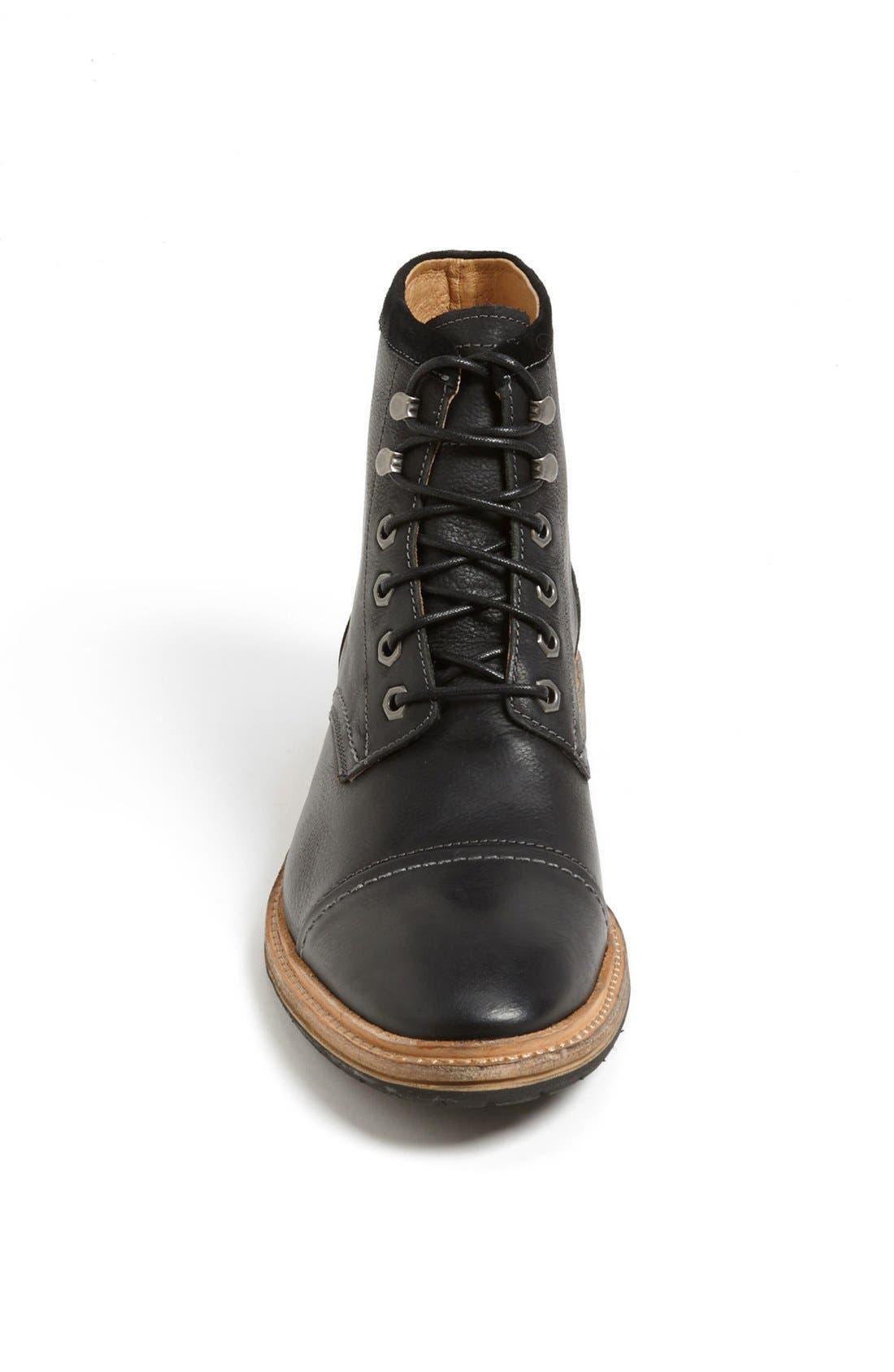'Indie' Cap Toe Boot,                             Alternate thumbnail 3, color,                             BLACK