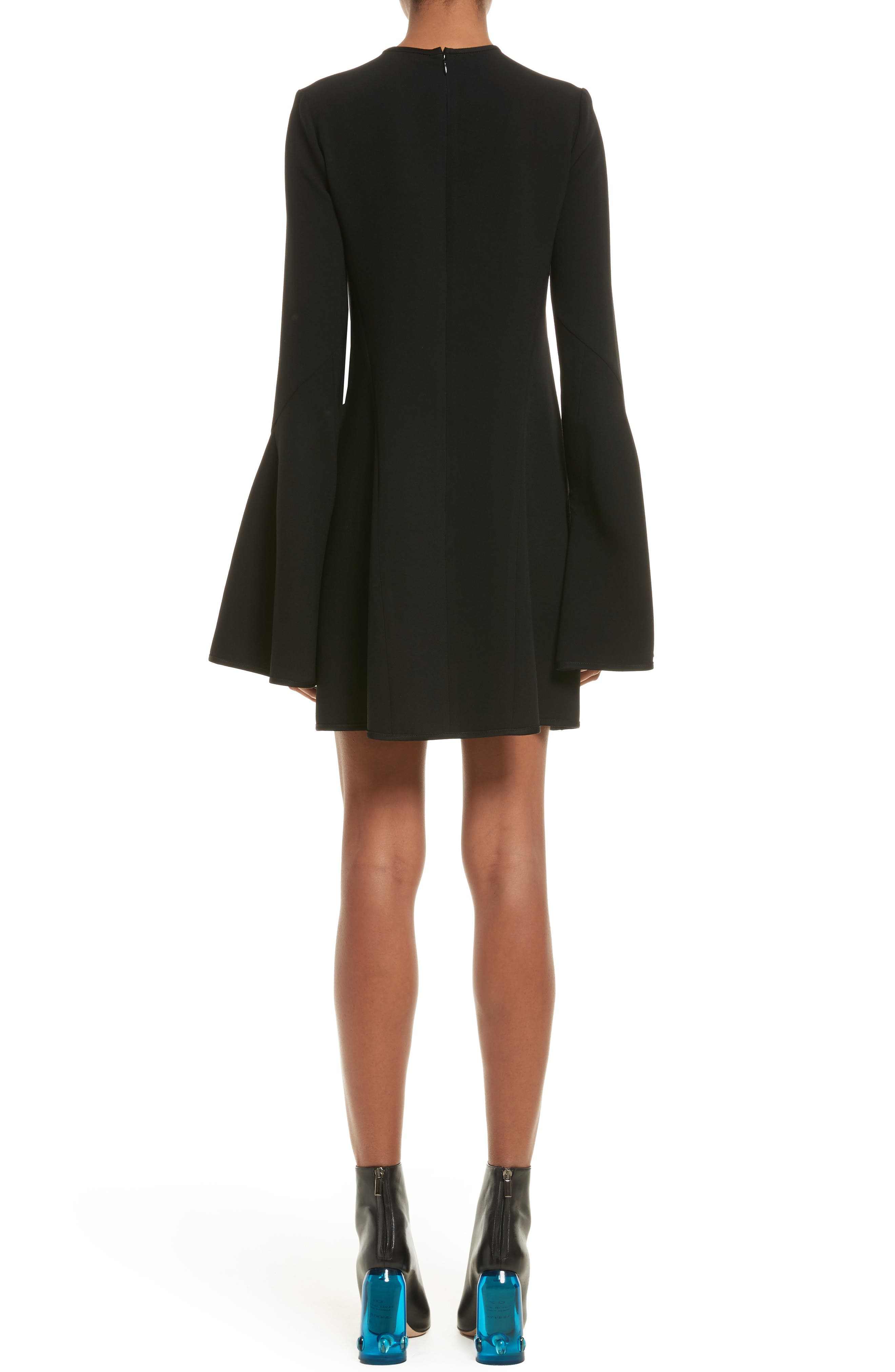 Preacher Satin Crepe Dress,                             Alternate thumbnail 2, color,