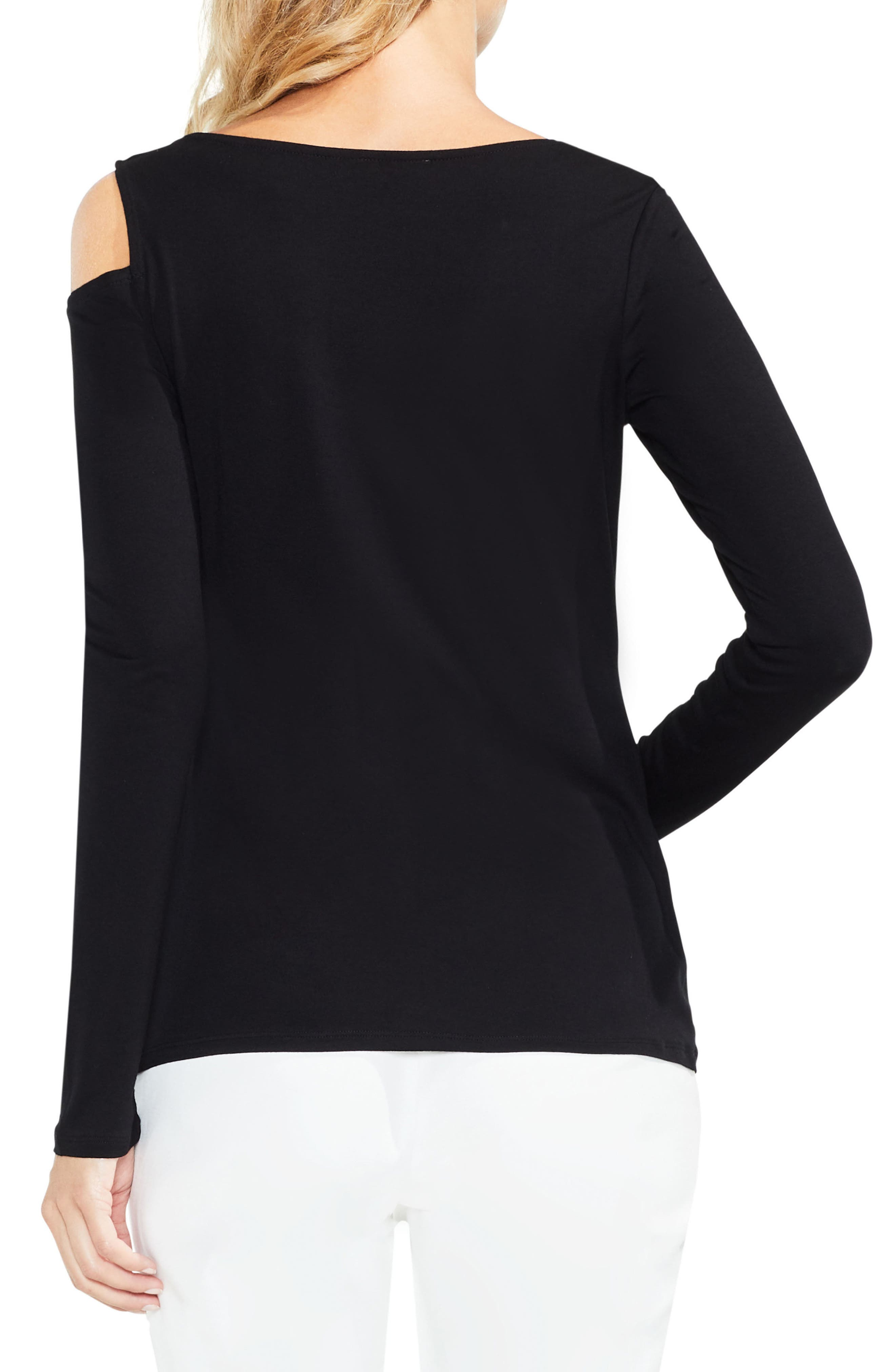 Twisted One Shoulder Top,                             Alternate thumbnail 2, color,                             006