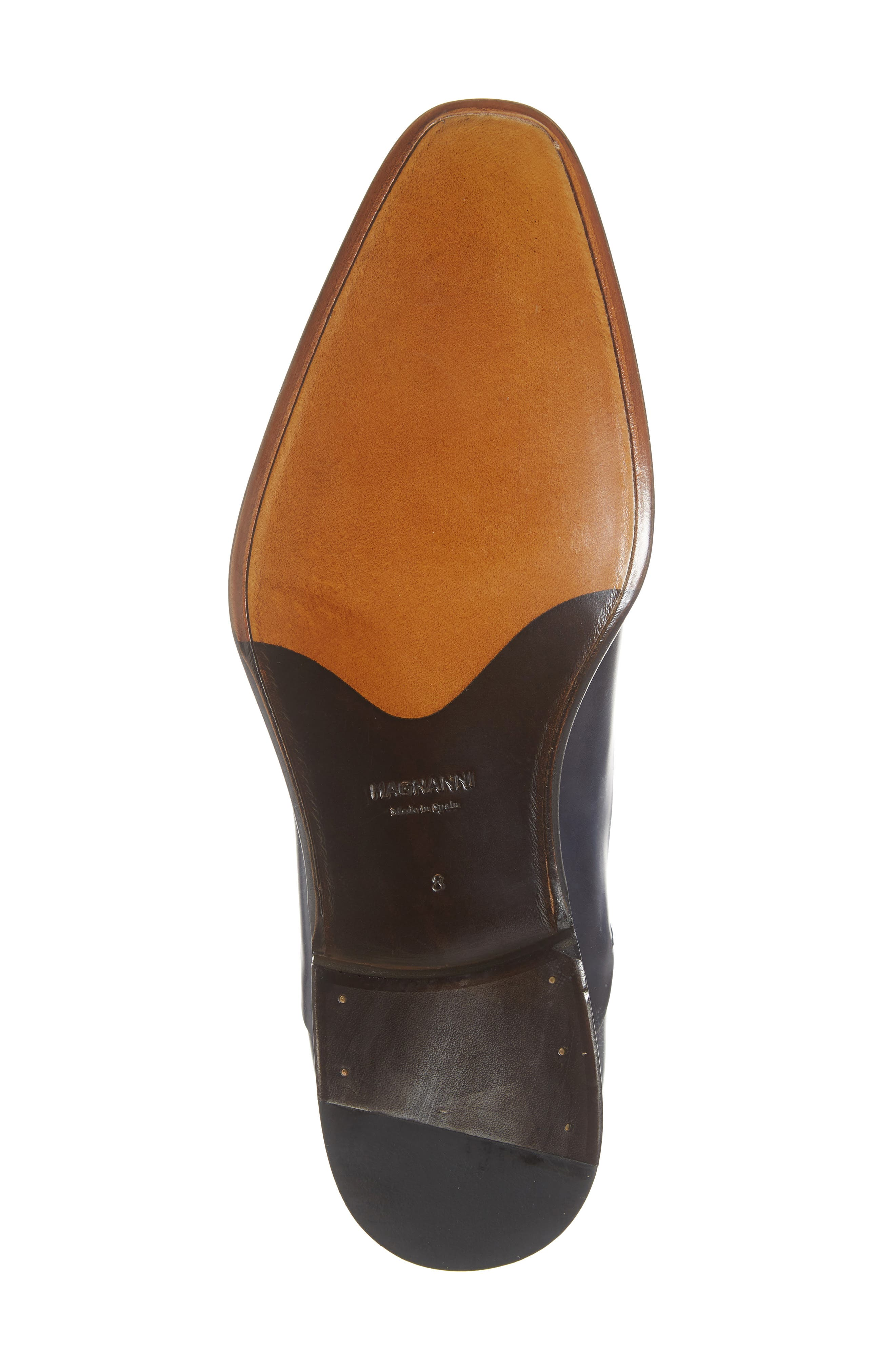 Hector Plain Toe Oxford,                             Alternate thumbnail 6, color,                             NAVY LEATHER