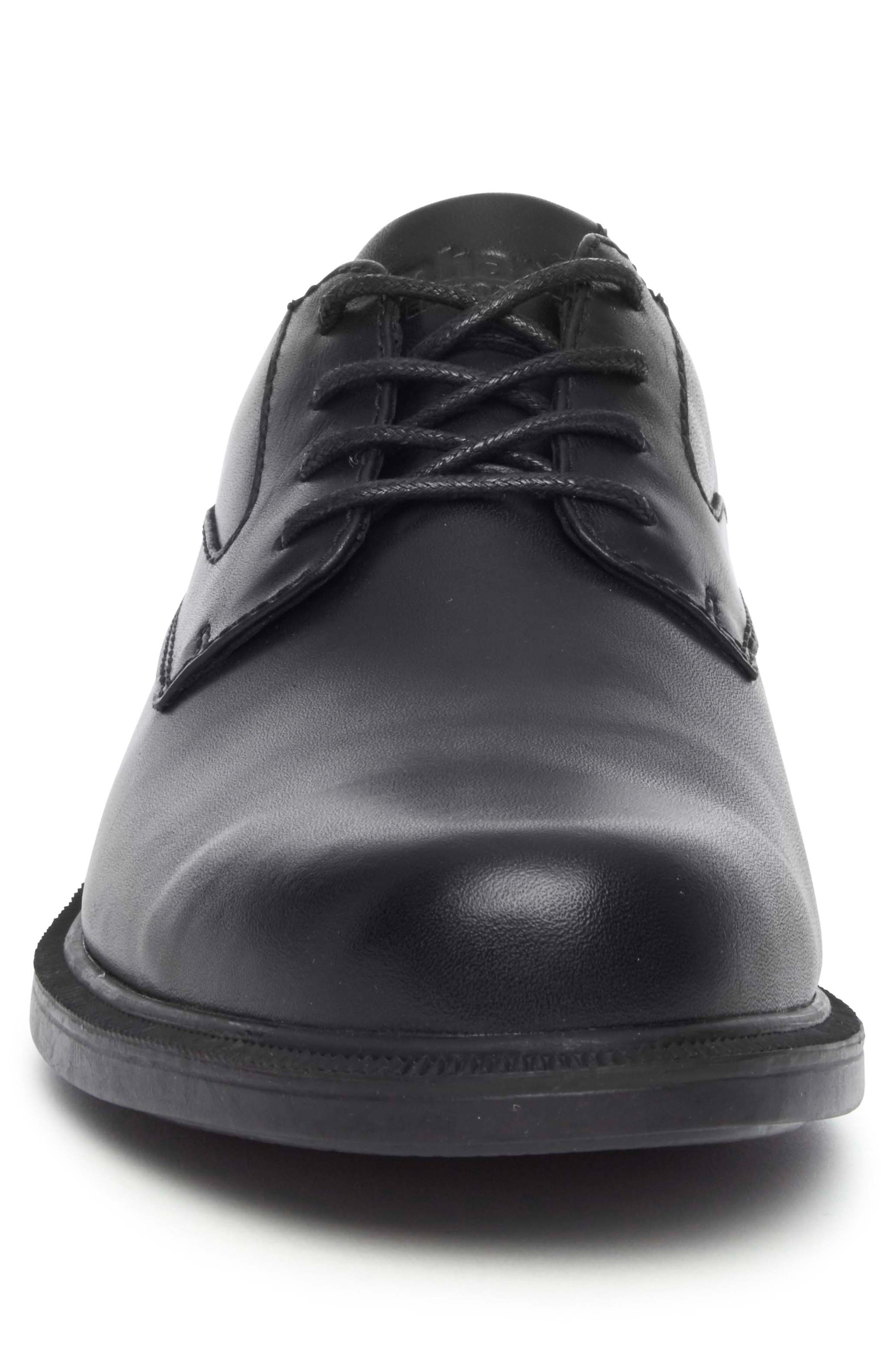Jericho Plain Toe Derby,                             Alternate thumbnail 4, color,                             BLACK LEATHER