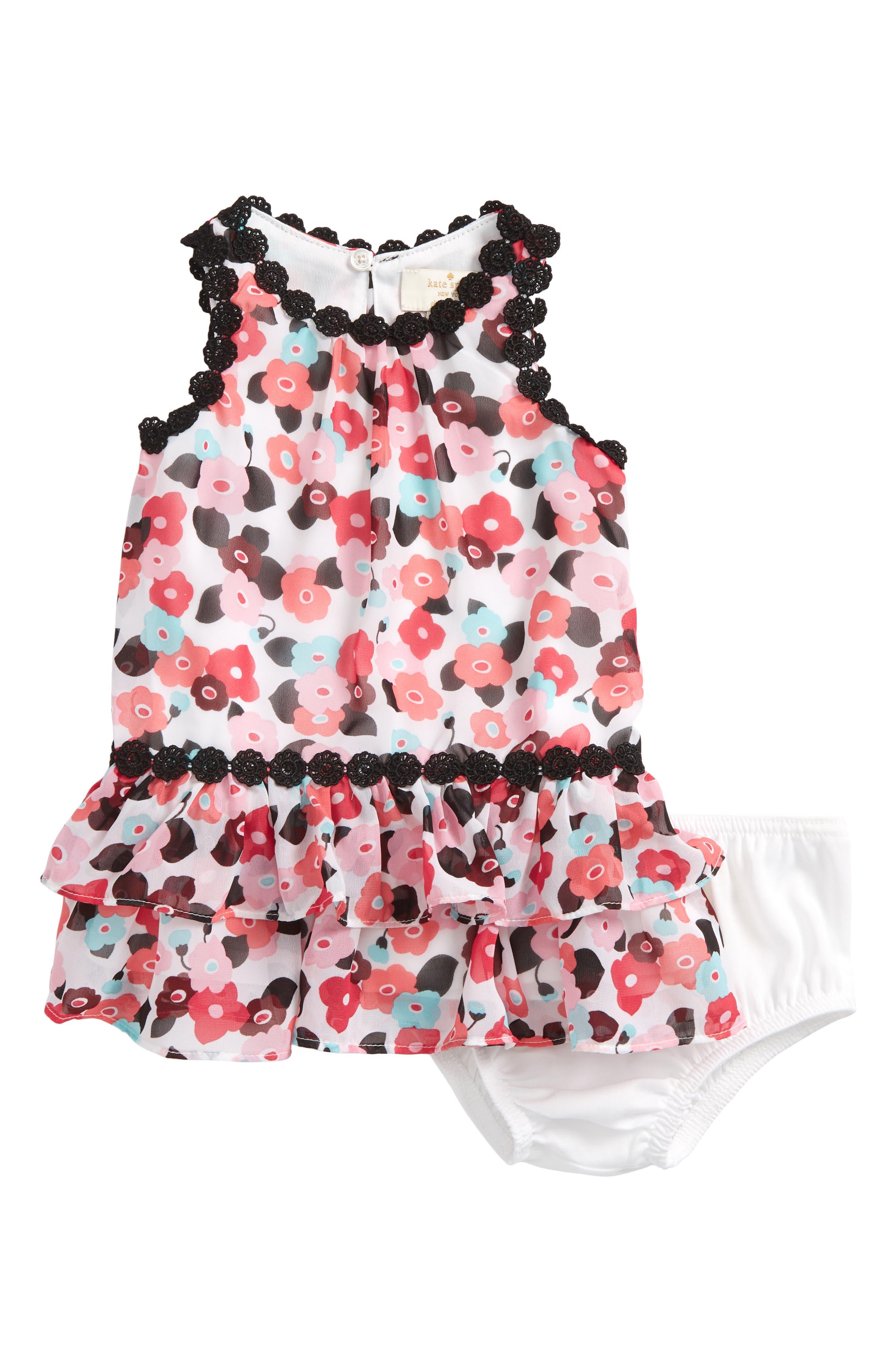 blooming floral dress,                             Main thumbnail 1, color,                             650