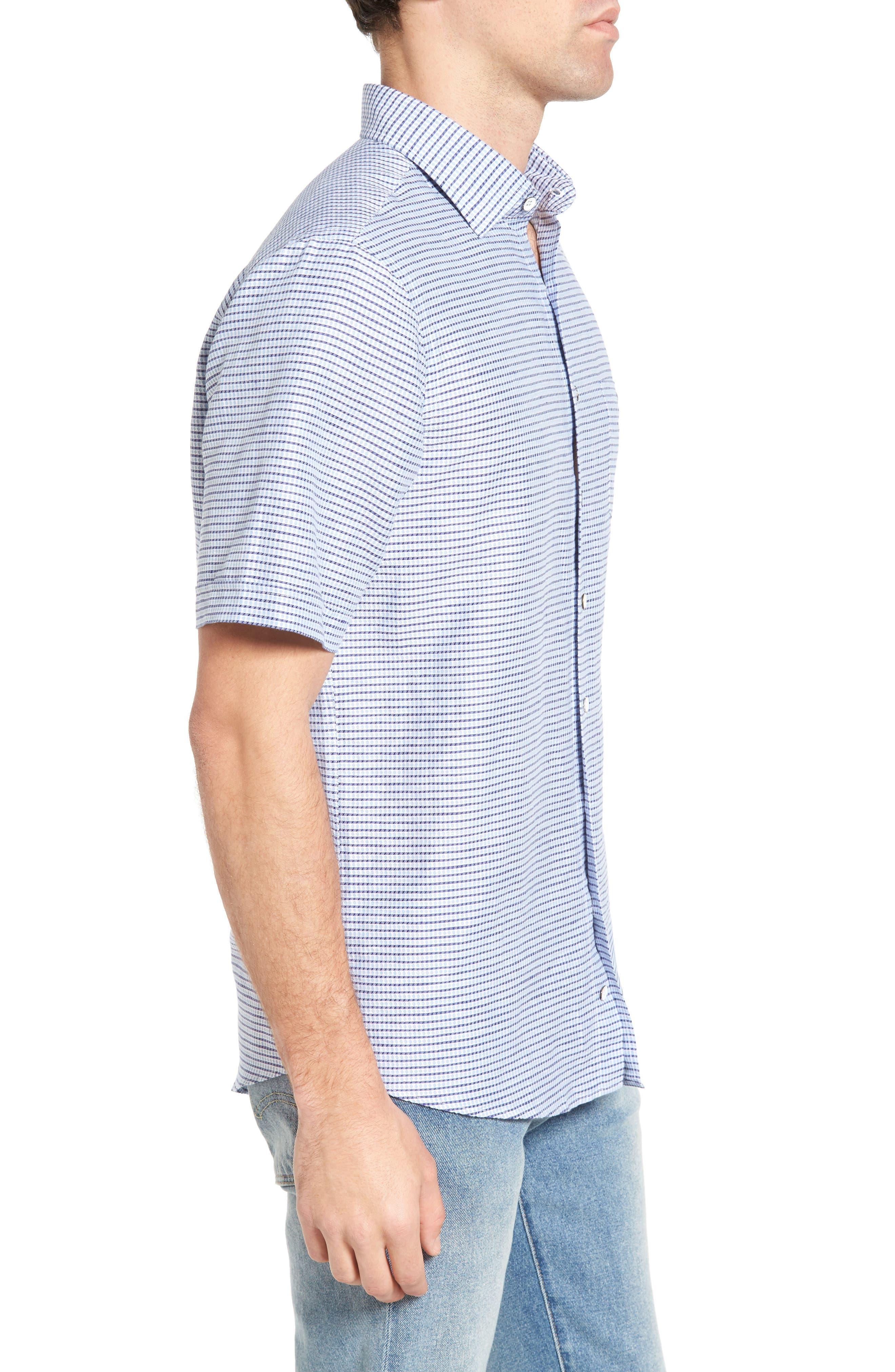 Upper Hutt Original Fit Sport Shirt,                             Alternate thumbnail 3, color,                             459