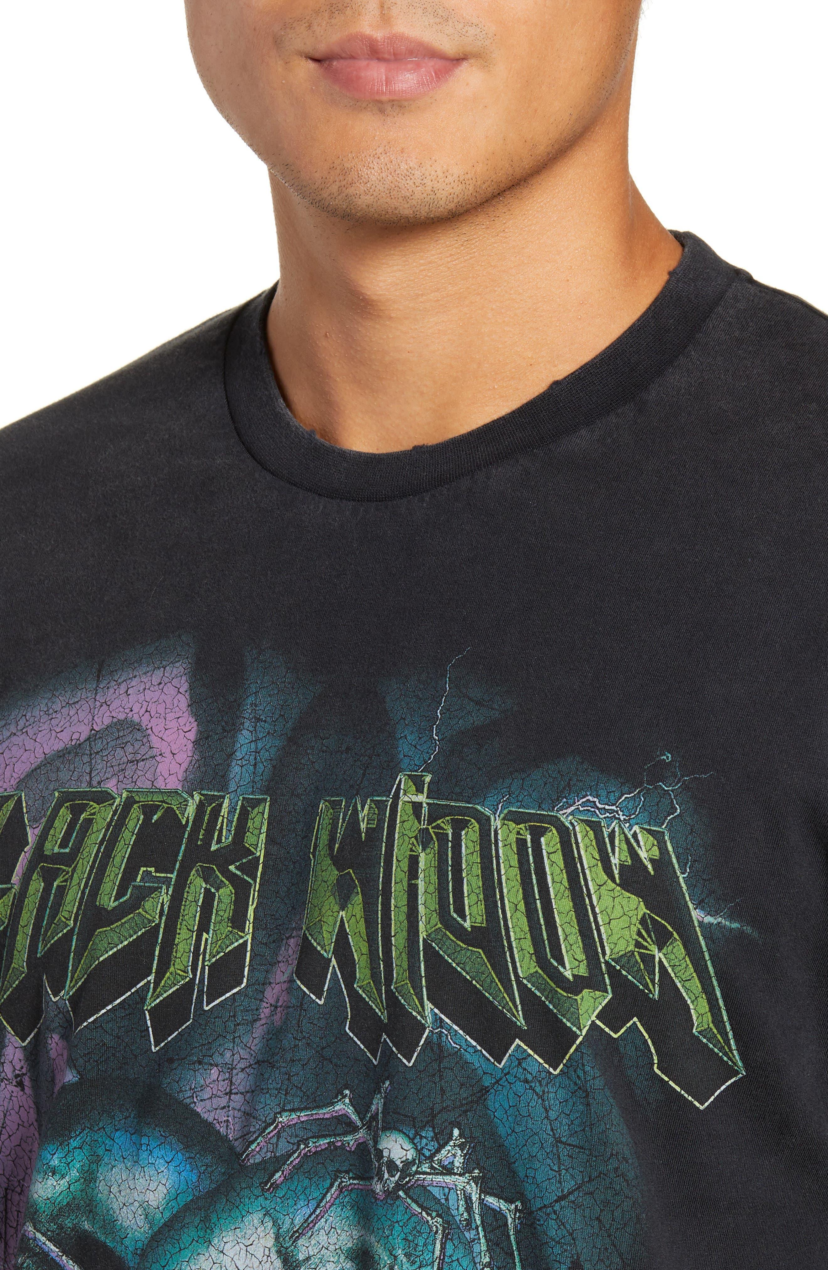 Black Widow Graphic T-Shirt,                             Alternate thumbnail 4, color,                             001