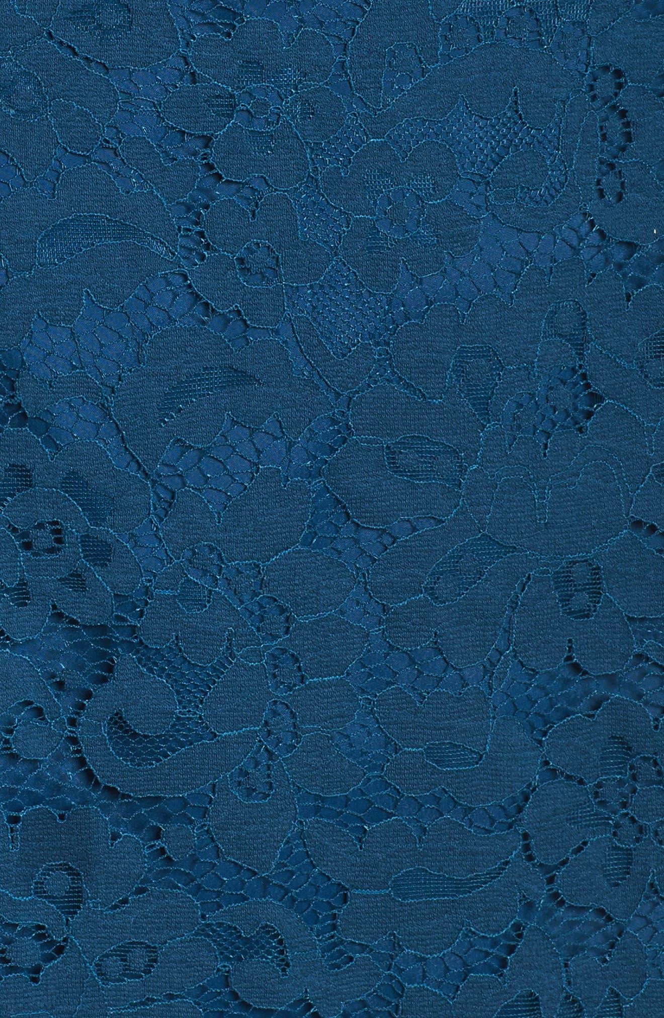 Stanley Lace Fit & Flare Dress,                             Alternate thumbnail 5, color,                             412
