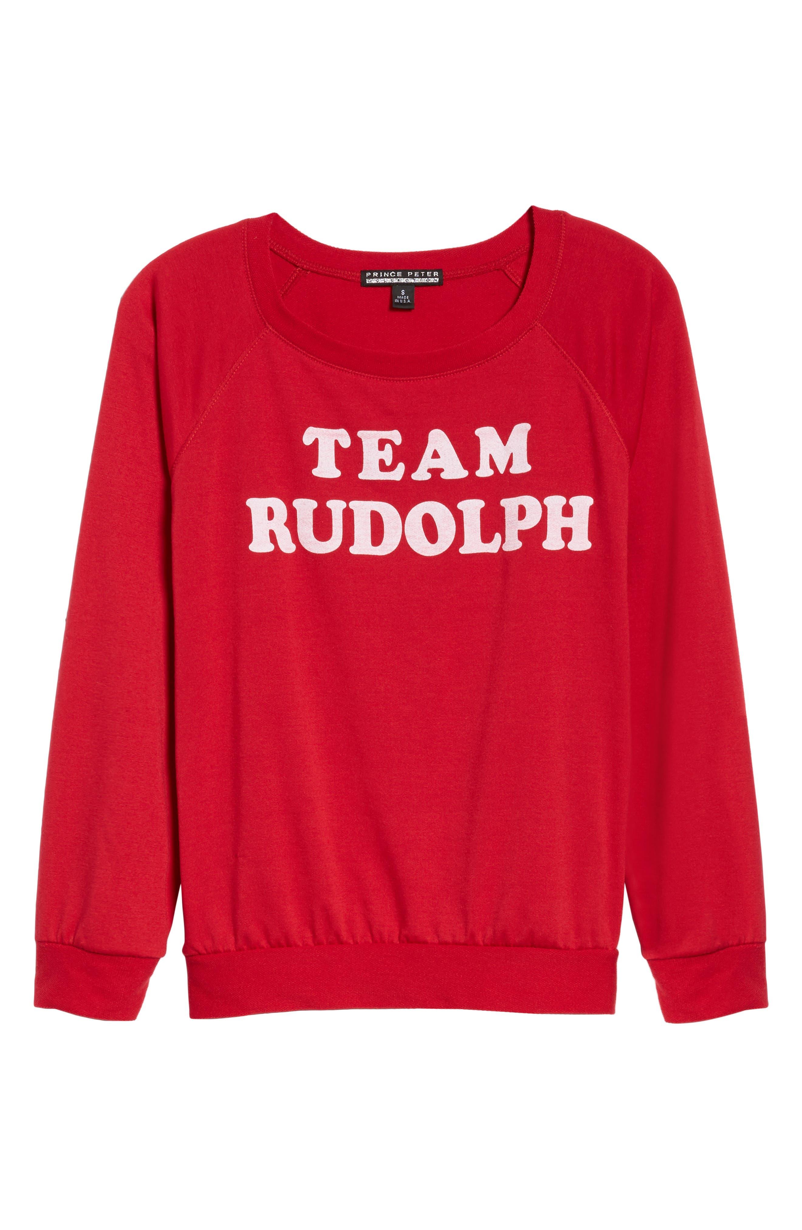Team Rudolph Sweatshirt,                             Alternate thumbnail 6, color,