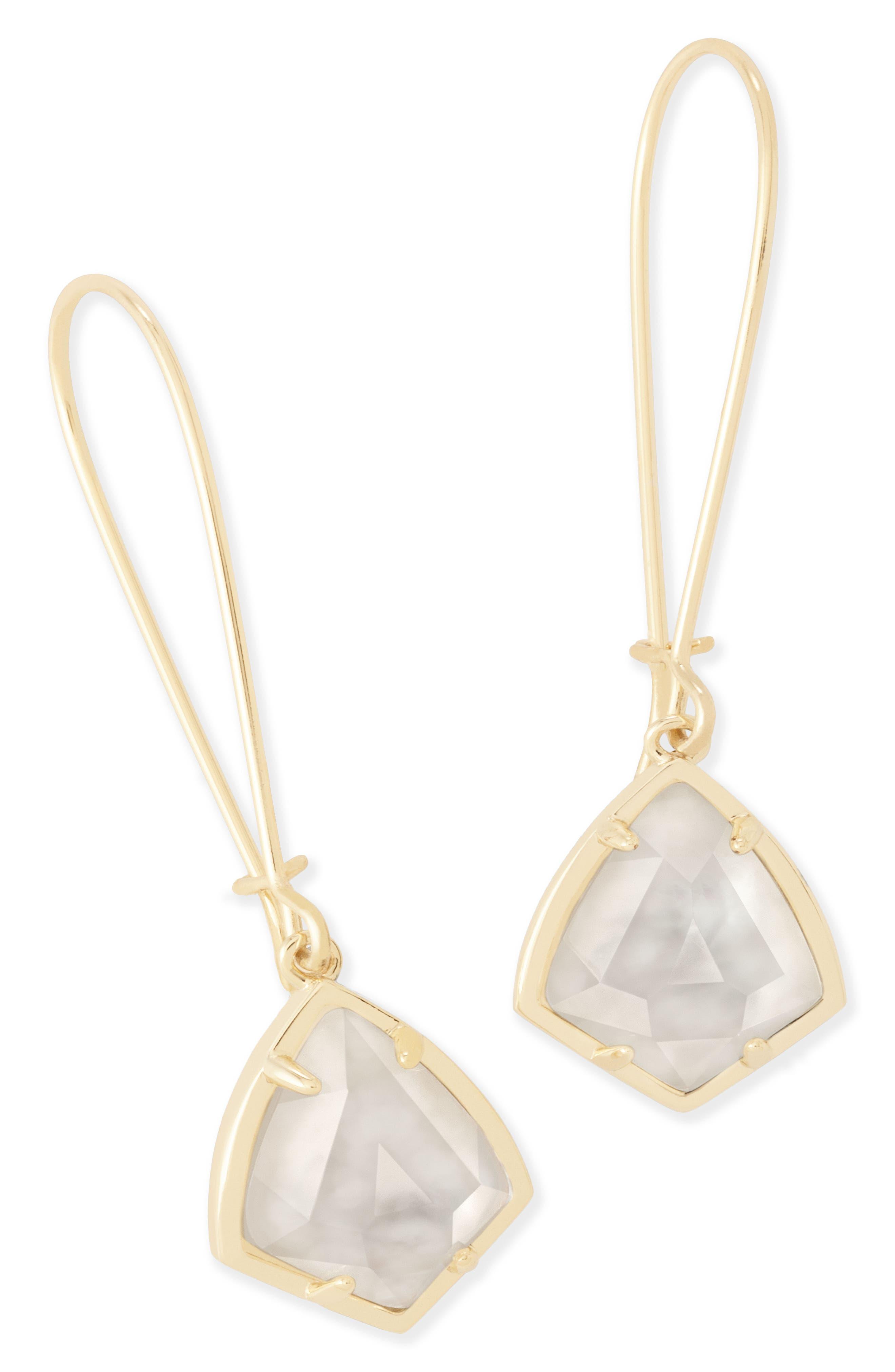 'Carrine' Semiprecious Stone Drop Earrings,                             Alternate thumbnail 41, color,