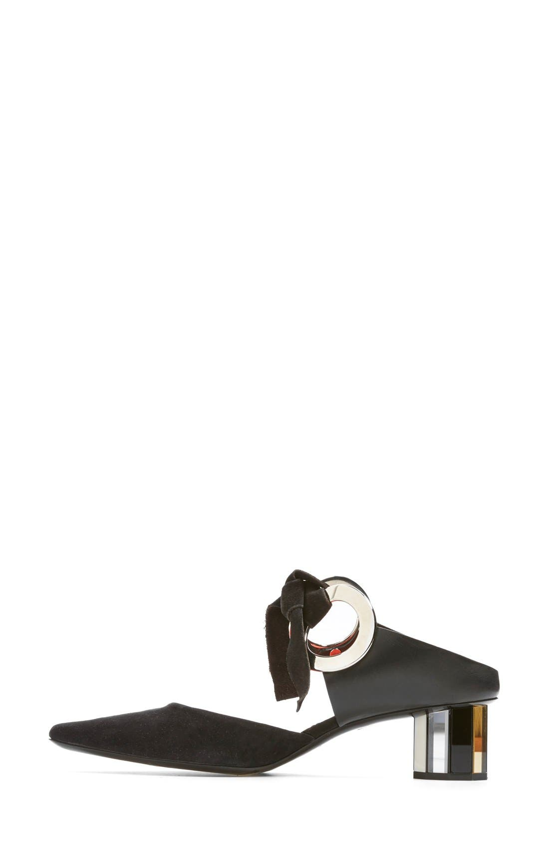 Ring Tie Pointy Toe Pump,                             Alternate thumbnail 22, color,